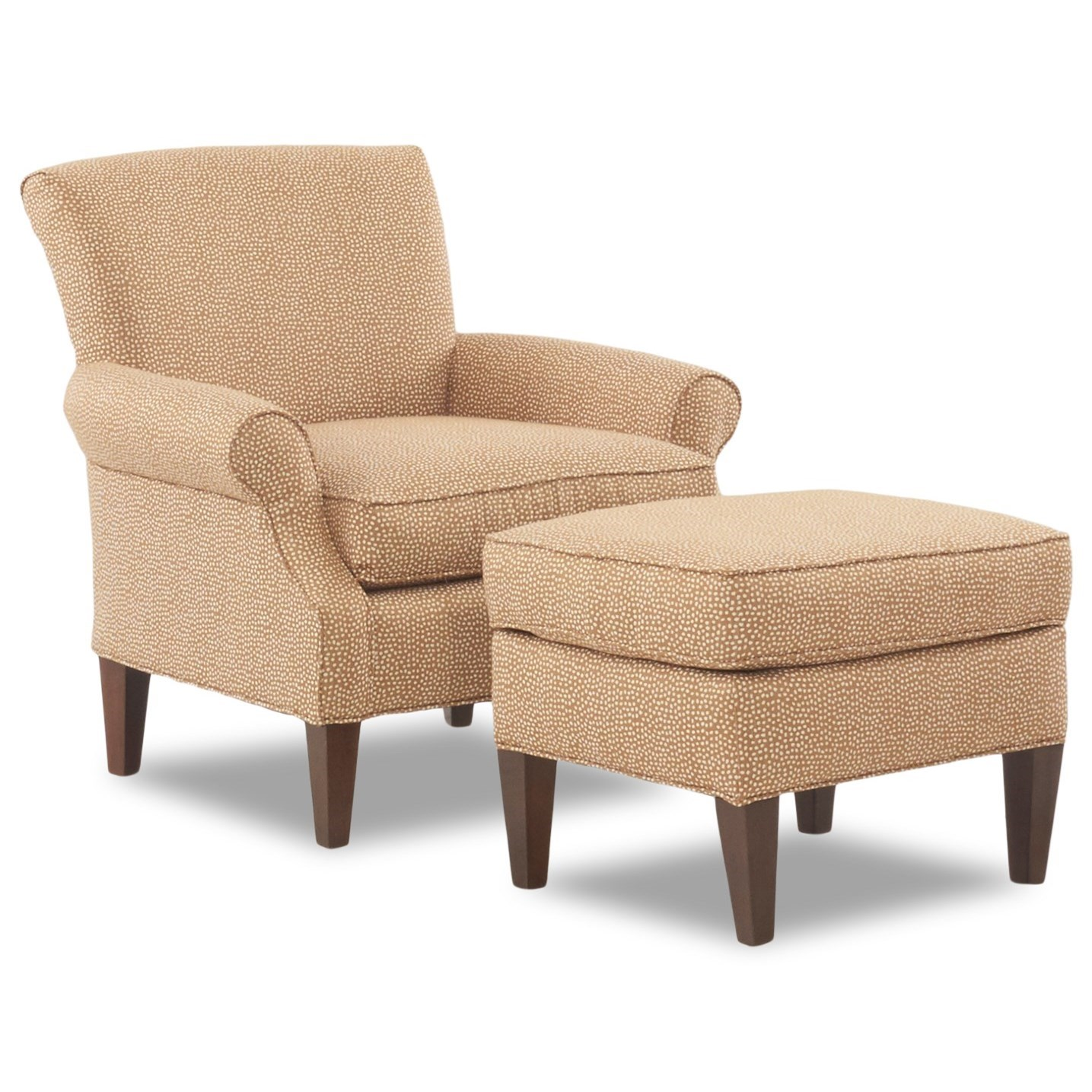 Chair Ottoman Chairs And Accents Chair Ottoman Set By Klaussner At Efo Furniture Outlet