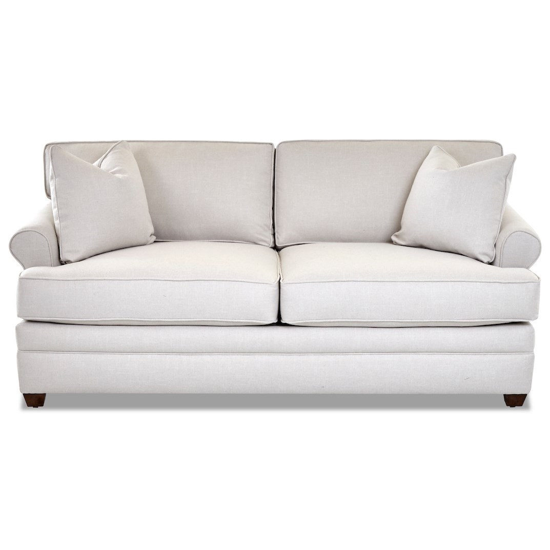 Klaussner Living Your Way K8122 Apts Casual Apartment Sofa With Rolled Arms Catalog Outlet Sofas
