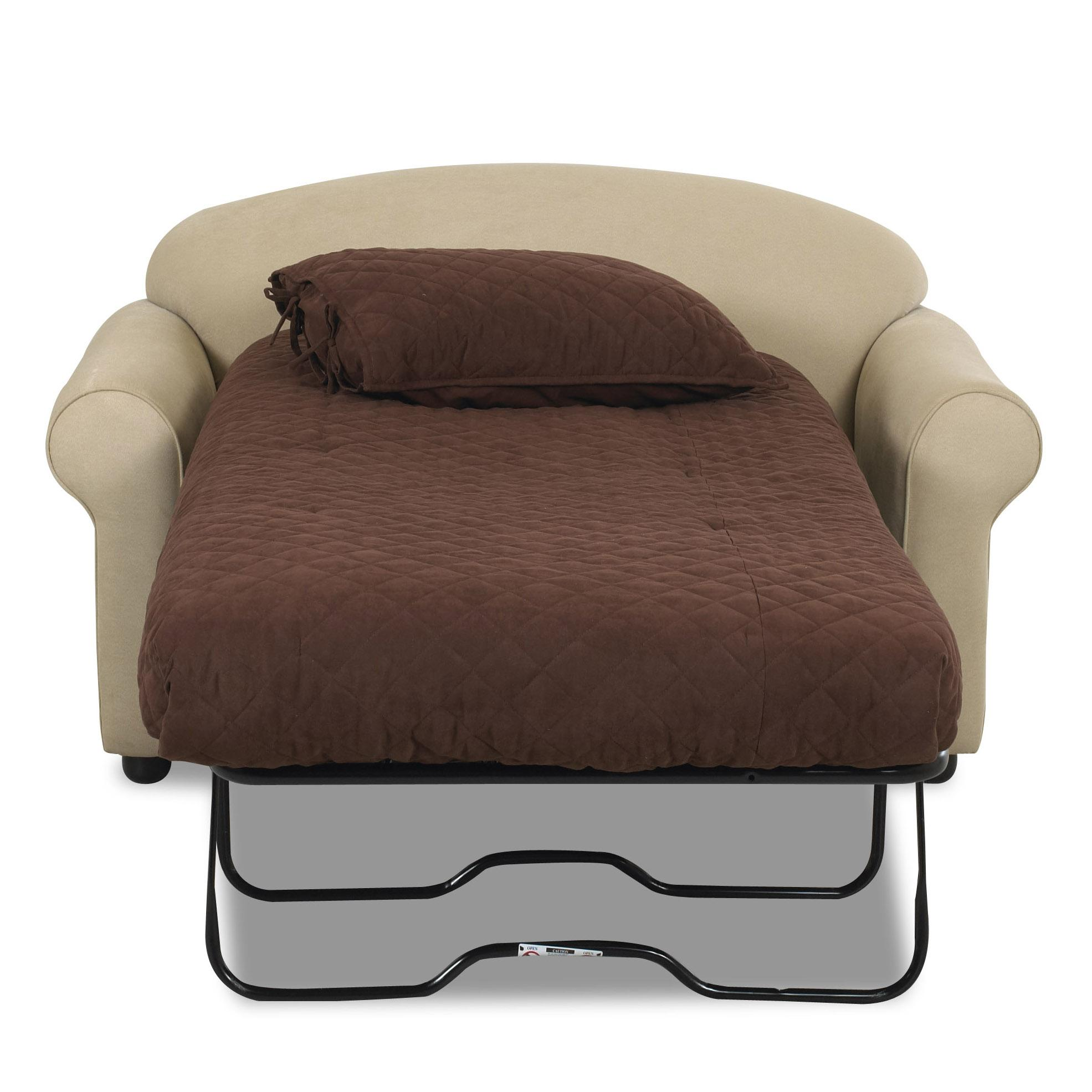 Queen Sofa Bed Ottoman Klaussner Possibilities Innerspring Chair Sleeper Darvin