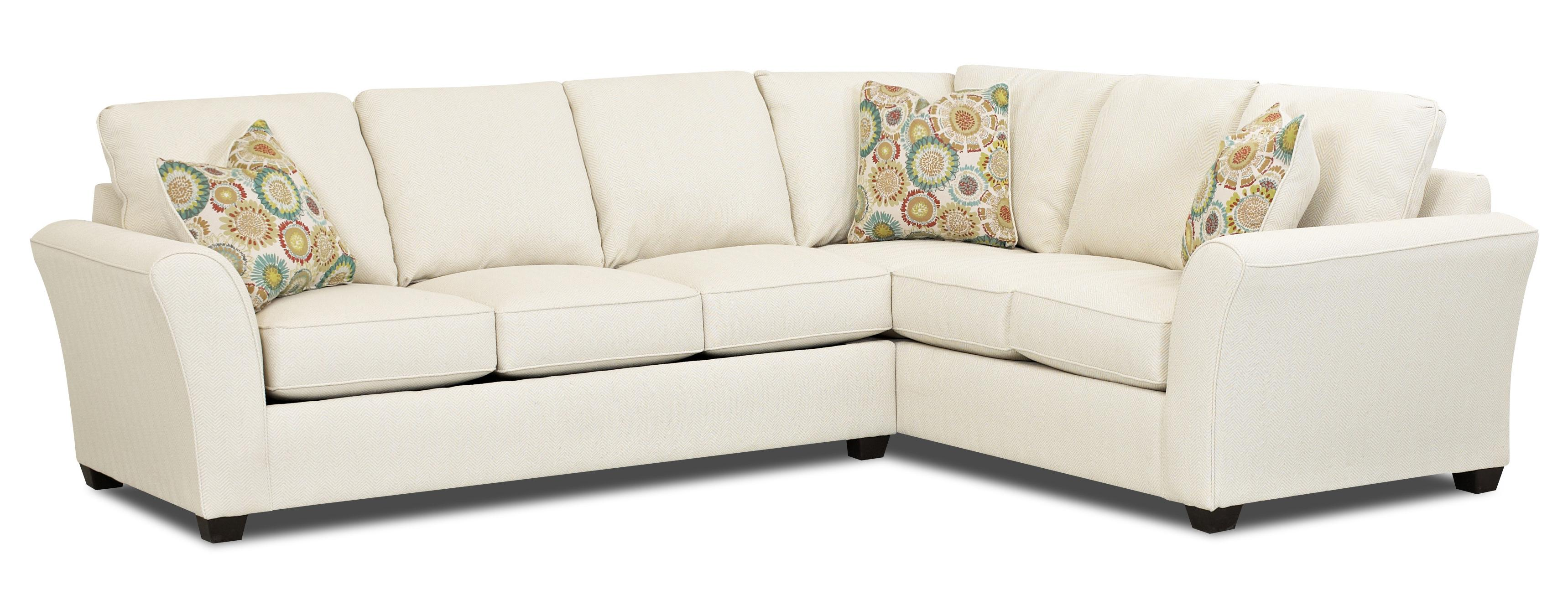 Sectional Pull Out Couch Klaussner Sedgewick Transitional 2 Piece Sectional Sofa Fmg