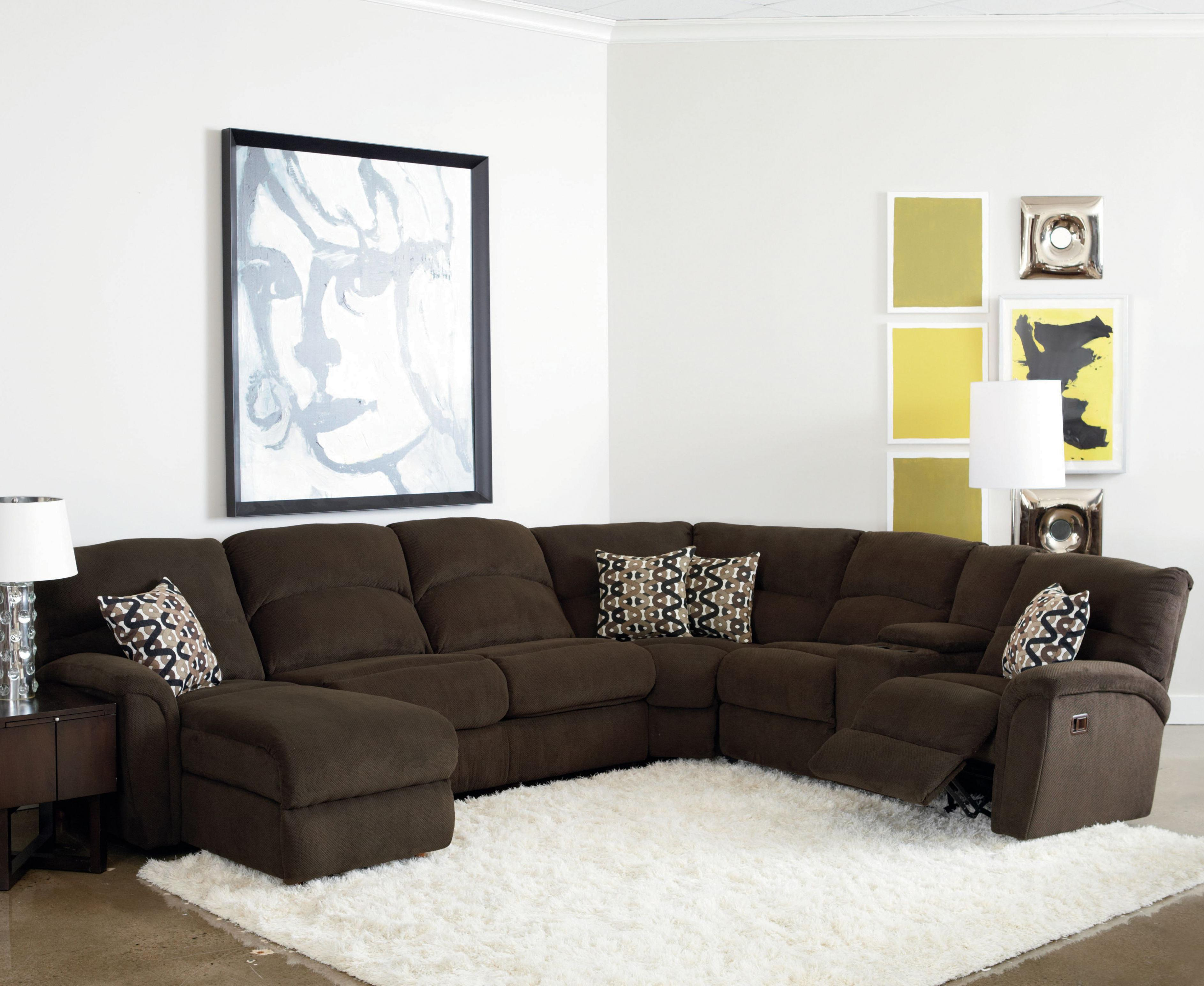 Sectional Sofa Living Room Layout Grand Torino Casual Four Piece Sectional Sofa W Full Sleeper And Drink Console By Lane At Rune S Furniture