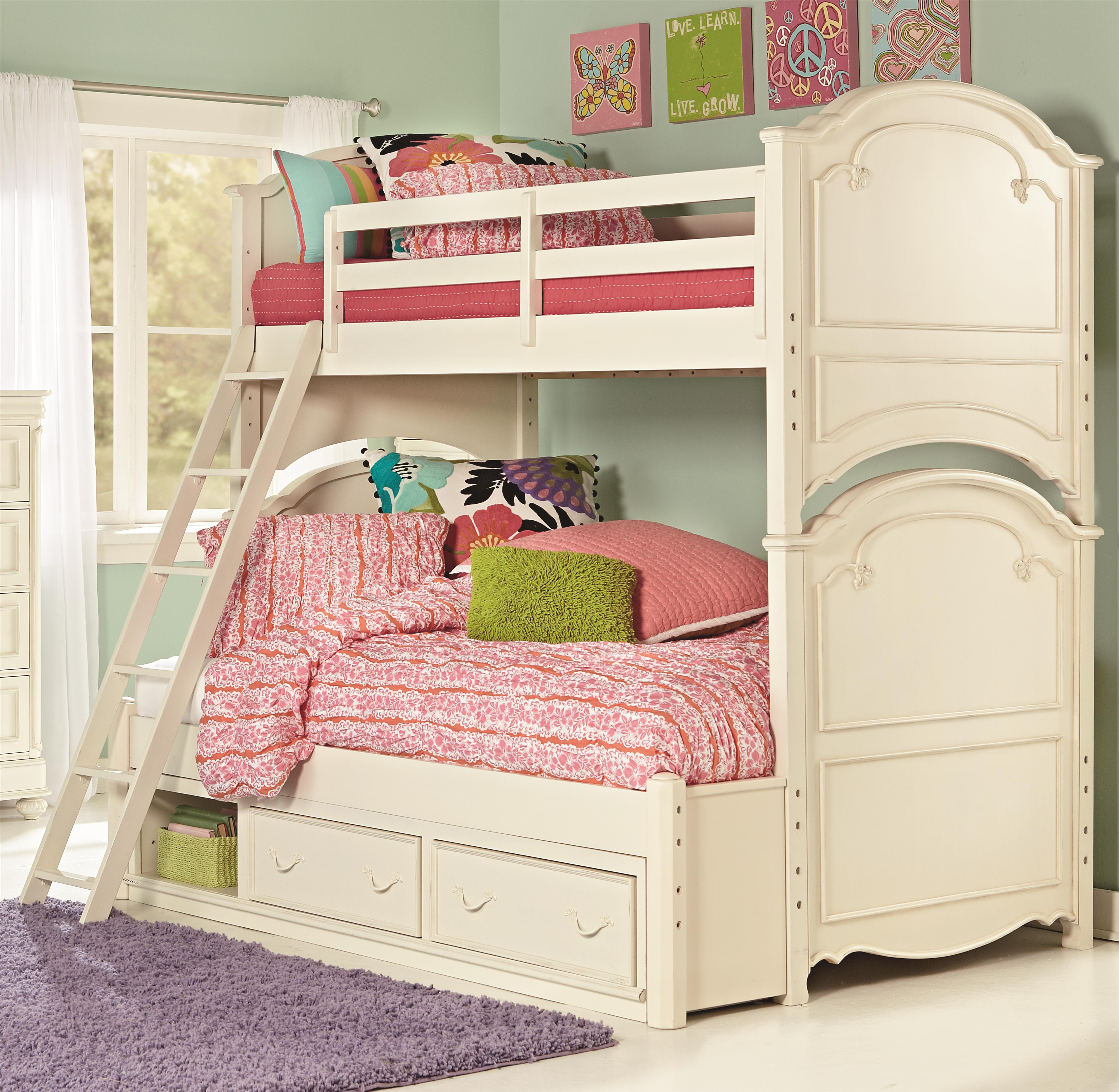 Bedding Storage Charlotte Twin Over Full Bunk Bed With Underbed Storage Unit By Legacy Classic Kids At Olinde S Furniture