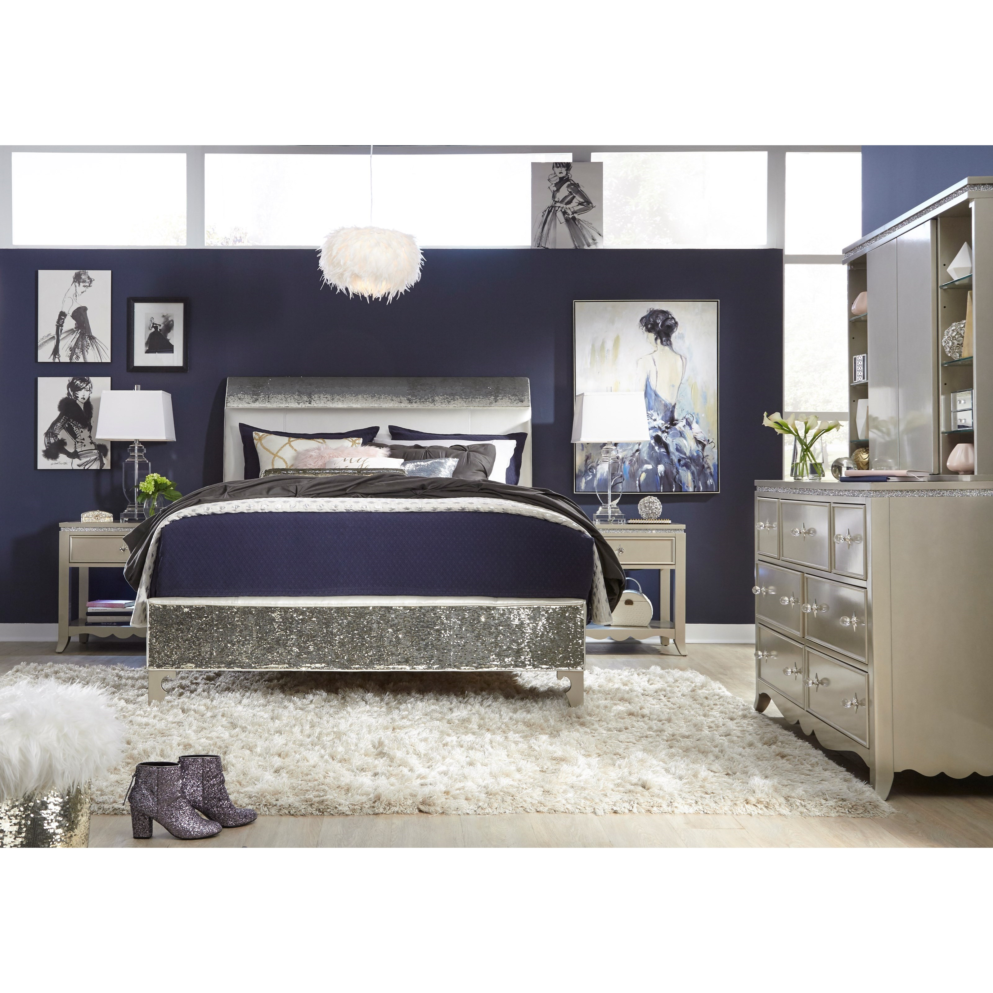 Kids Queen Bed Glitz And Glam Queen Bedroom Group By Legacy Classic Kids At Lindy S Furniture Company