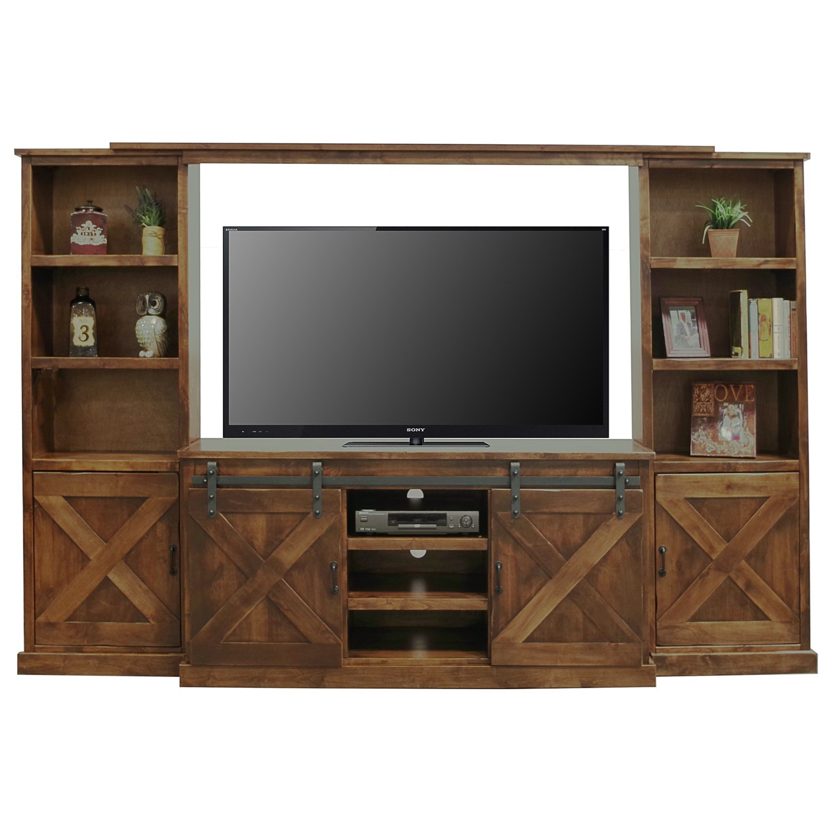 Large Wall Units For Living Room Farmhouse Collection Rustic Entertainment Wall Unit With Sliding Doors By Legends Furniture At Goffena Furniture Mattress Center