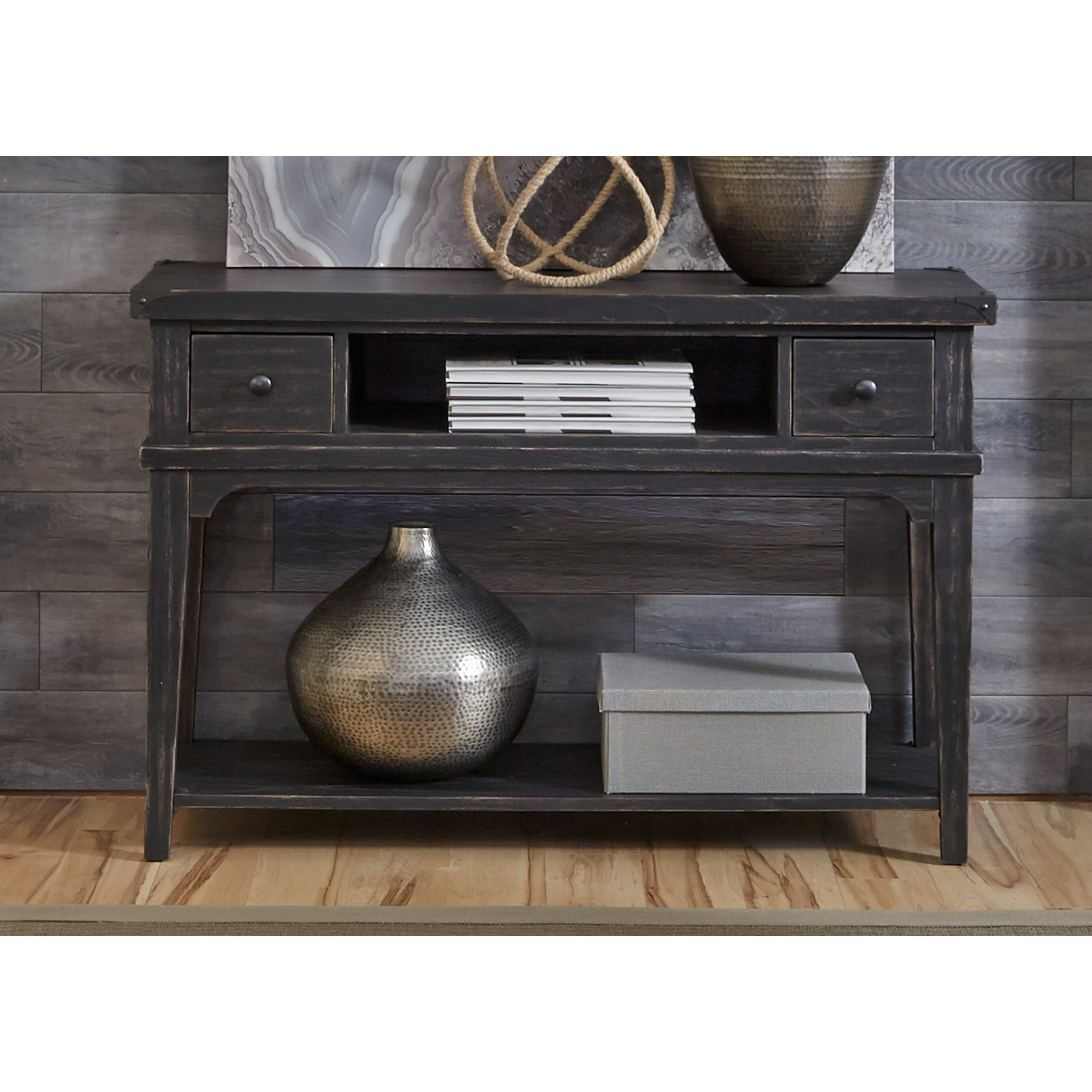 Console Table But Aspen Skies Industrial Casual Sofa Table By Liberty Furniture At Rooms For Less