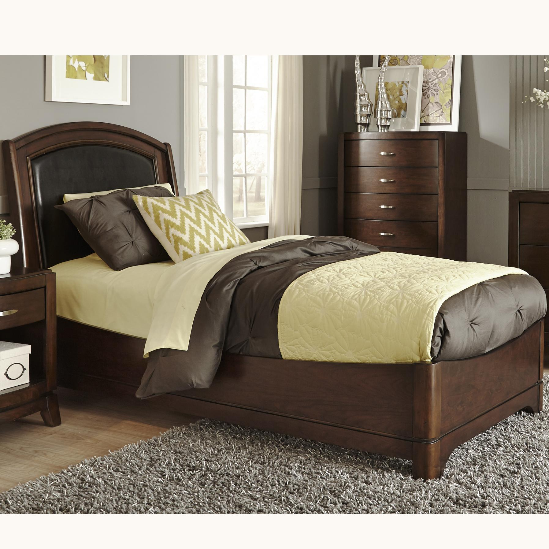Leather Bed Frame Avalon Full Bed With Arched Leather Headboard By Liberty Furniture At Royal Furniture