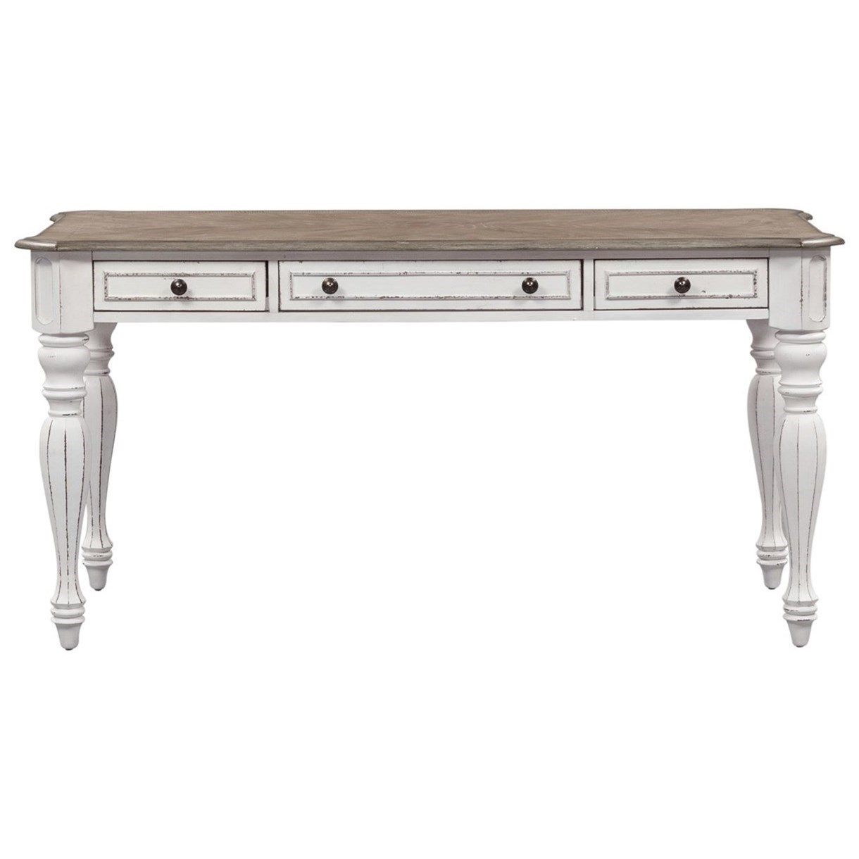 Liberty Furniture Magnolia Manor Office 275 12805 5 Writing Desk With Turned Legs Furniture Fair North Carolina Table Desks Writing Desks