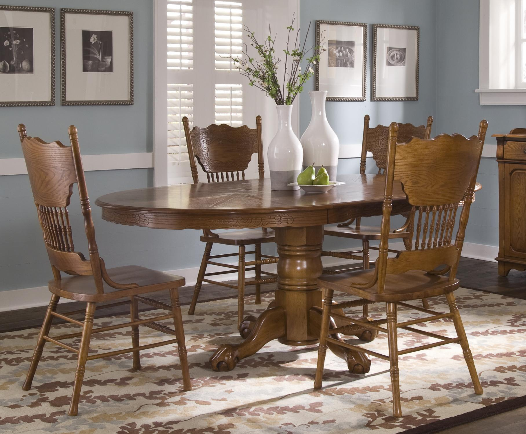 10 Seat Dining Table Set Nostalgia Single Pedestal Table And Side Chair Set By Liberty Furniture At Royal Furniture