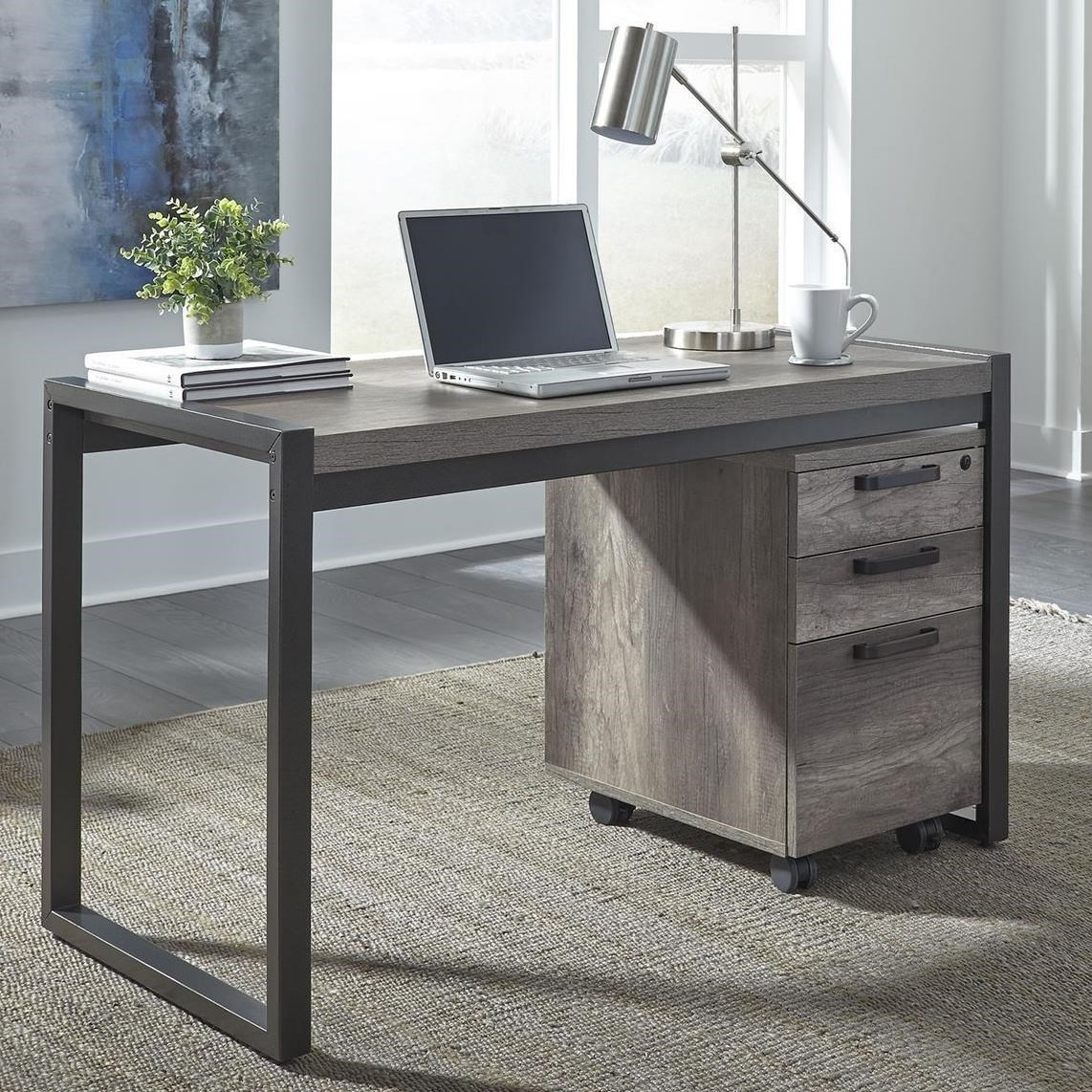 Desk With File Cabinet Tanners Creek Contemporary Writing Desk With 3 Drawer File Cabinet By Liberty Furniture At Royal Furniture