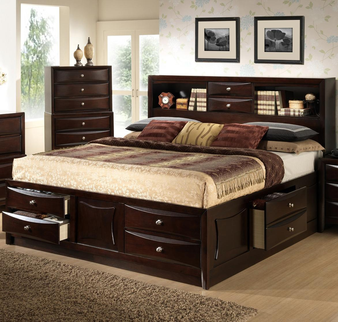Bookcase Bed Todd Queen Storage Bed W Bookcase Headboard By Lifestyle At Royal Furniture