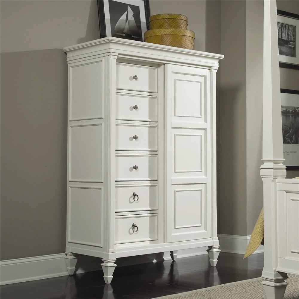 Small Accent Chest Magnussen Home Ashby Drawer Chest With Sliding Door