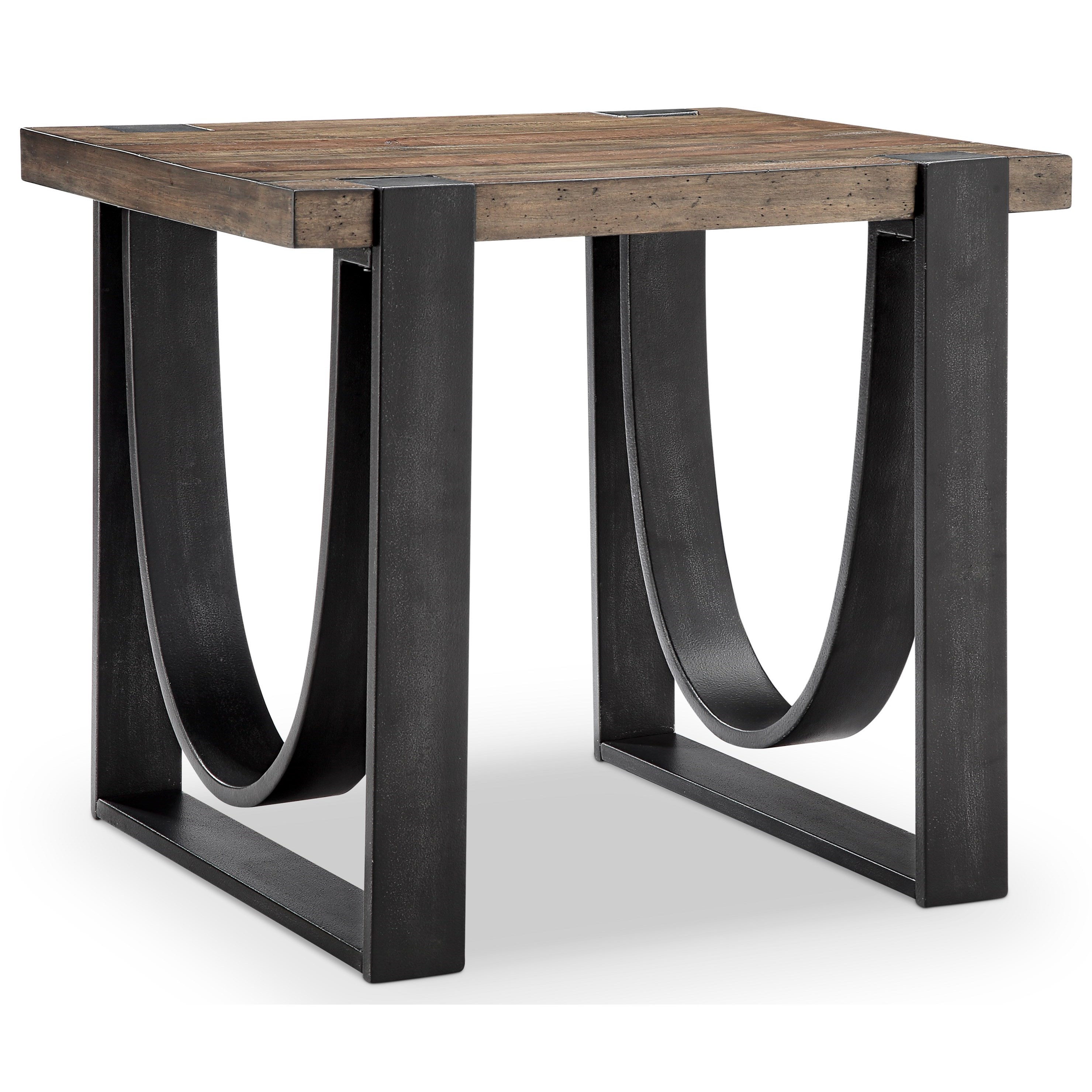 Rustic Wood End Table Bowden Rustic Rectangular End Table Of Solid Wood By Magnussen Home At Darvin Furniture