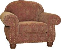 Mayo 3180 Traditional Upholstered Chair with Spool Legs ...