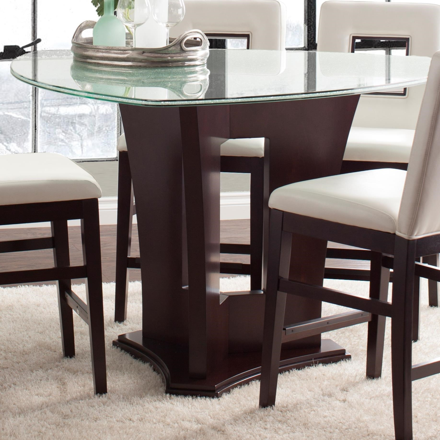 Glass Dining Table And Chairs Soho Counter Height Dining Table With Crackled Glass Top By Najarian At Del Sol Furniture