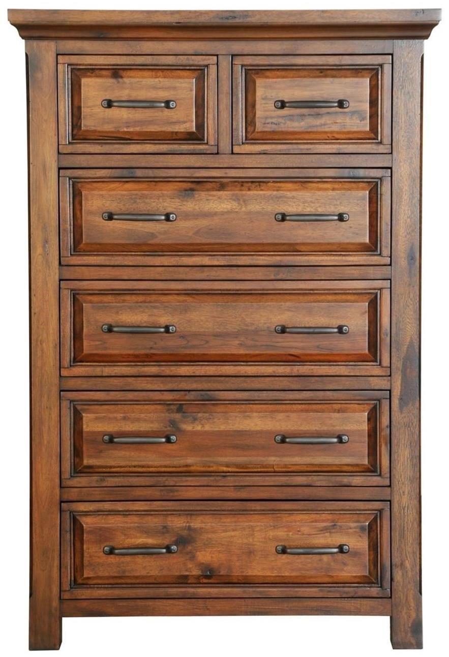 6 Drawer Chest Of Drawers Hill Crest Rustic 6 Drawer Chest With Full Extension Drawers By Napa Furniture Designs At Darvin Furniture
