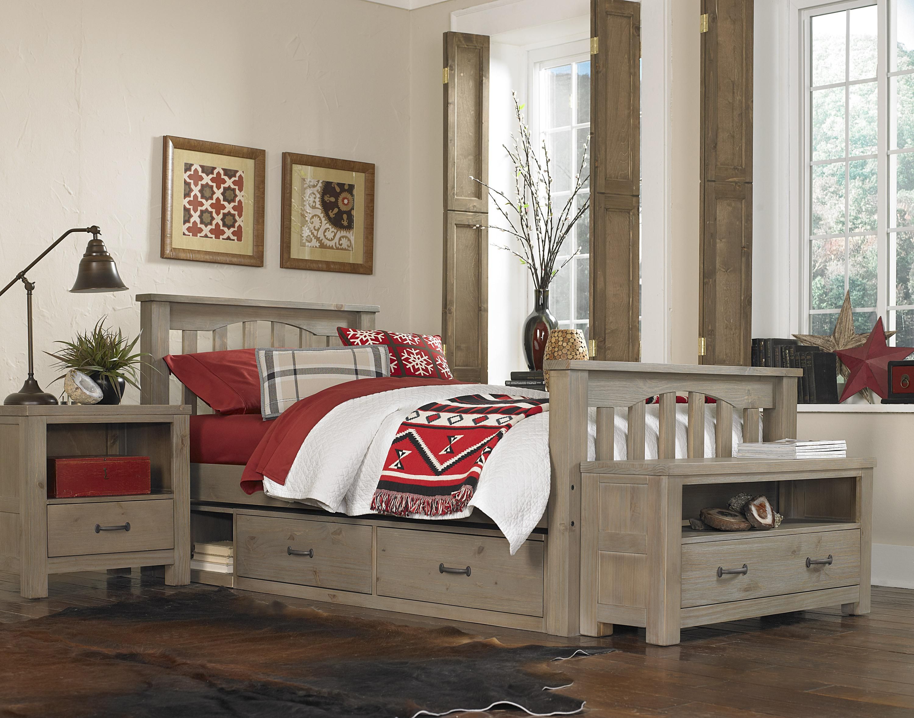Ne Kids Highlands Mission Style Twin Harper Bed With Wide