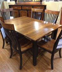 Palettes by Winesburg BLK/ELM 4260A Two Toned Dining Table ...