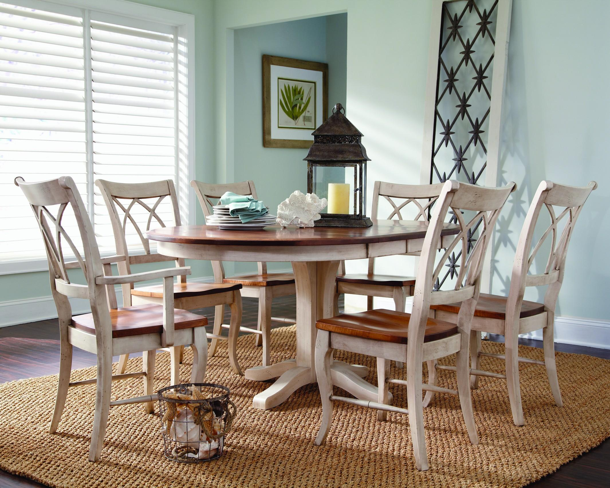 Tables En Palettes Palettes By Winesburg Adams Customizable 7 Pc Oval Table Chair