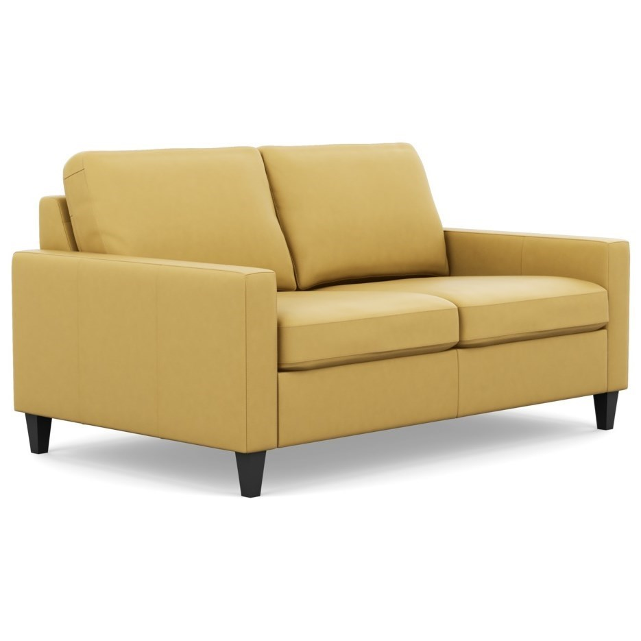 Palliser Inspirations Emilia High Leg Contemporary Loveseat With Slim Track Arms And High Legs Belfort Furniture Loveseats