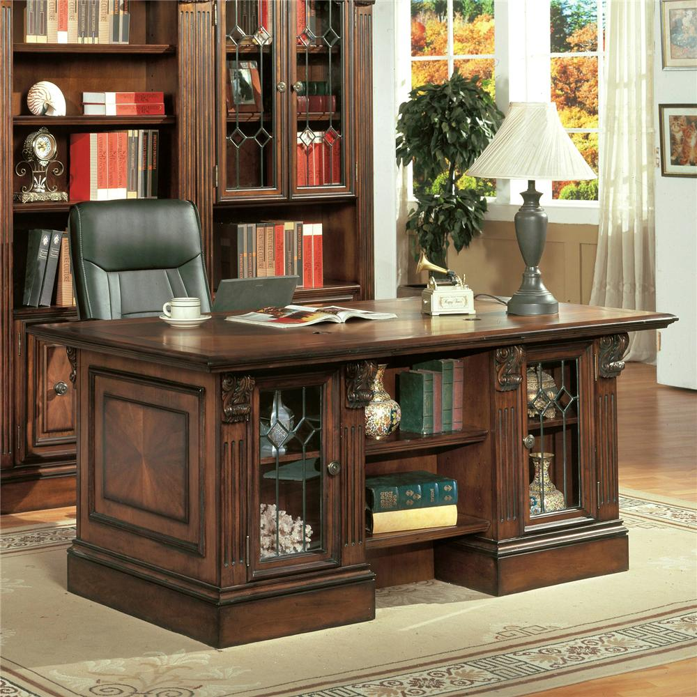 Hunington Furniture Huntington Double Pedestal Executive Desk By Parker House At Lindy S Furniture Company