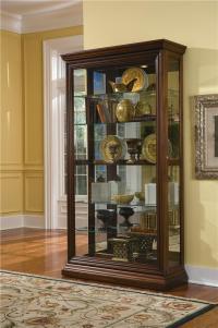Pulaski Furniture Curios Edwardian Two Way Sliding Door ...