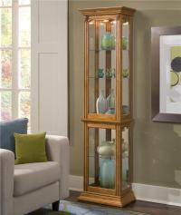 Pulaski Furniture Curios Estate Oak Curio Cabinet | Olinde ...