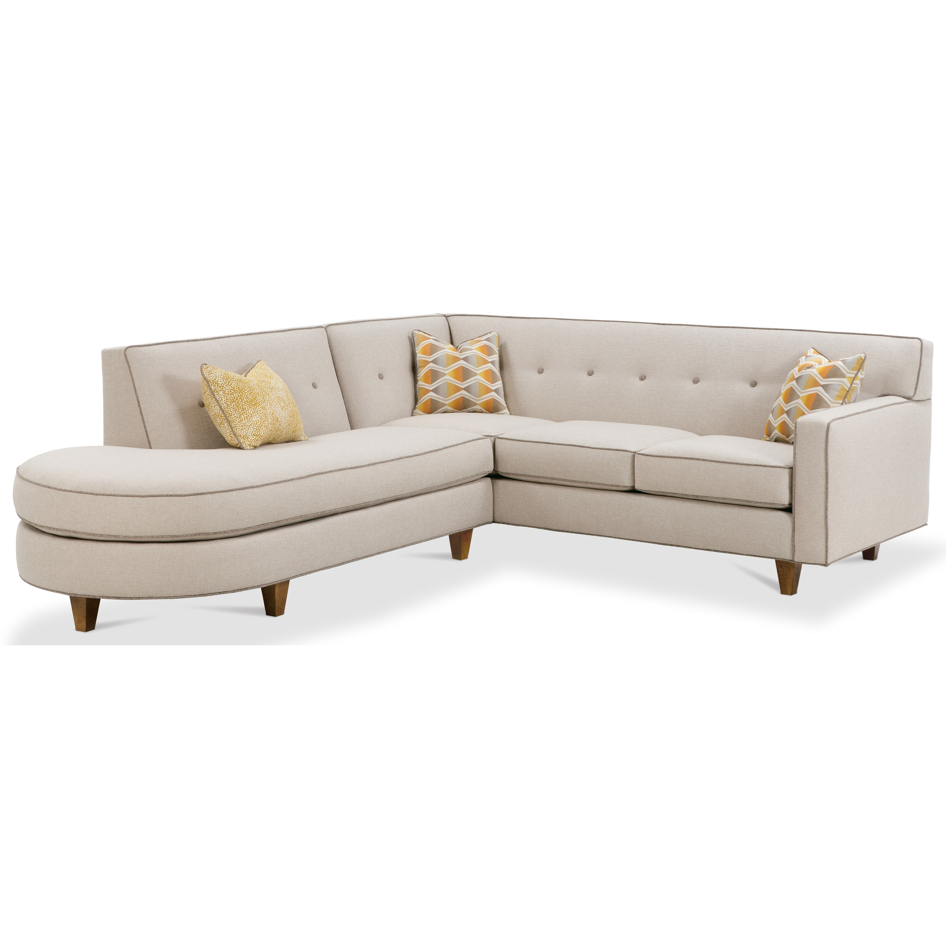 Rowe Dorset Contemporary 2 Piece Sectional Sofa With Tufted Back - Garden Furniture Clearance Company Dorset