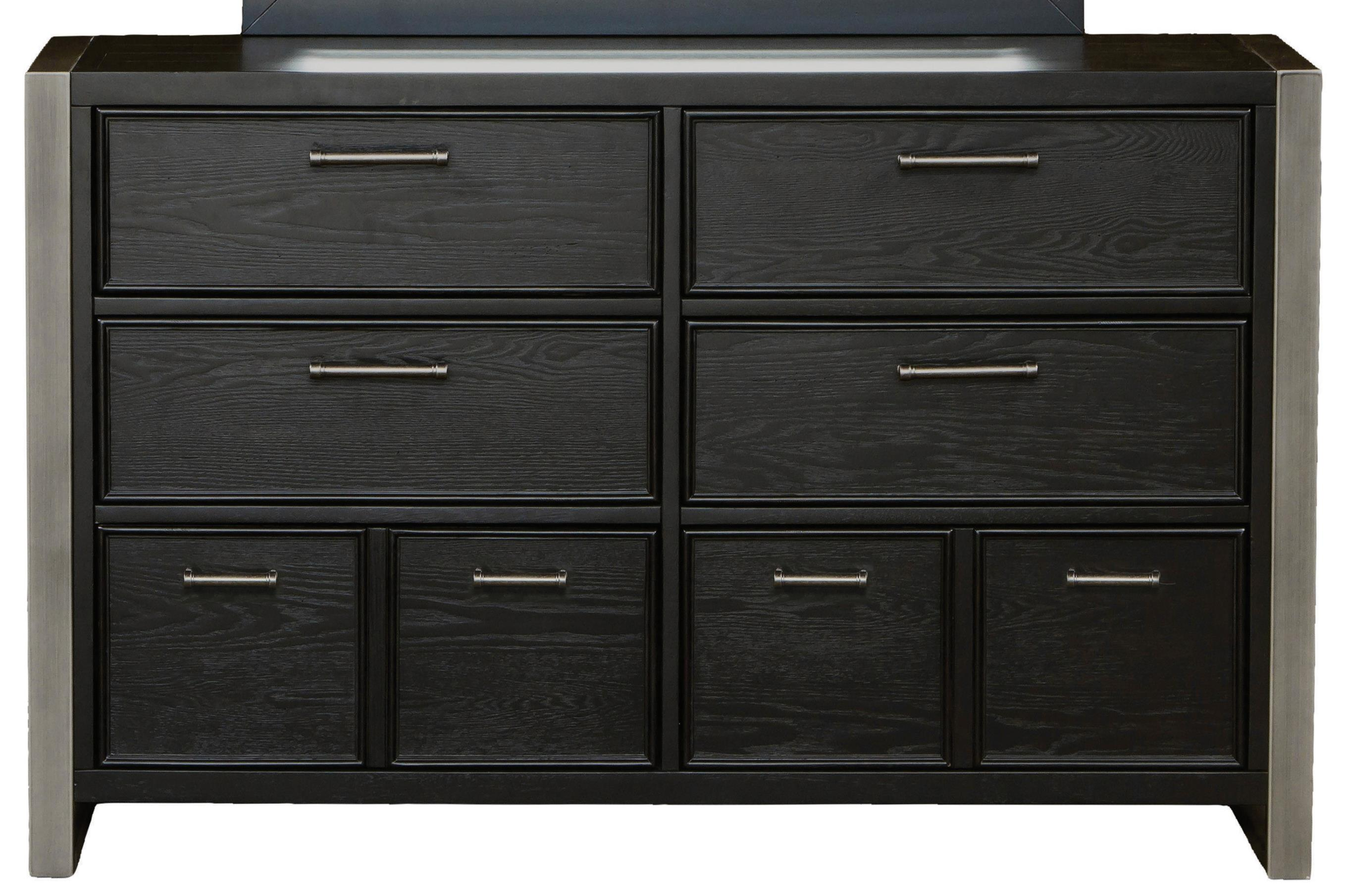 White 8 Drawer Dresser Graphite 8 Drawer Dresser With Silver Metal Bar Hardware By Samuel Lawrence At Rooms For Less