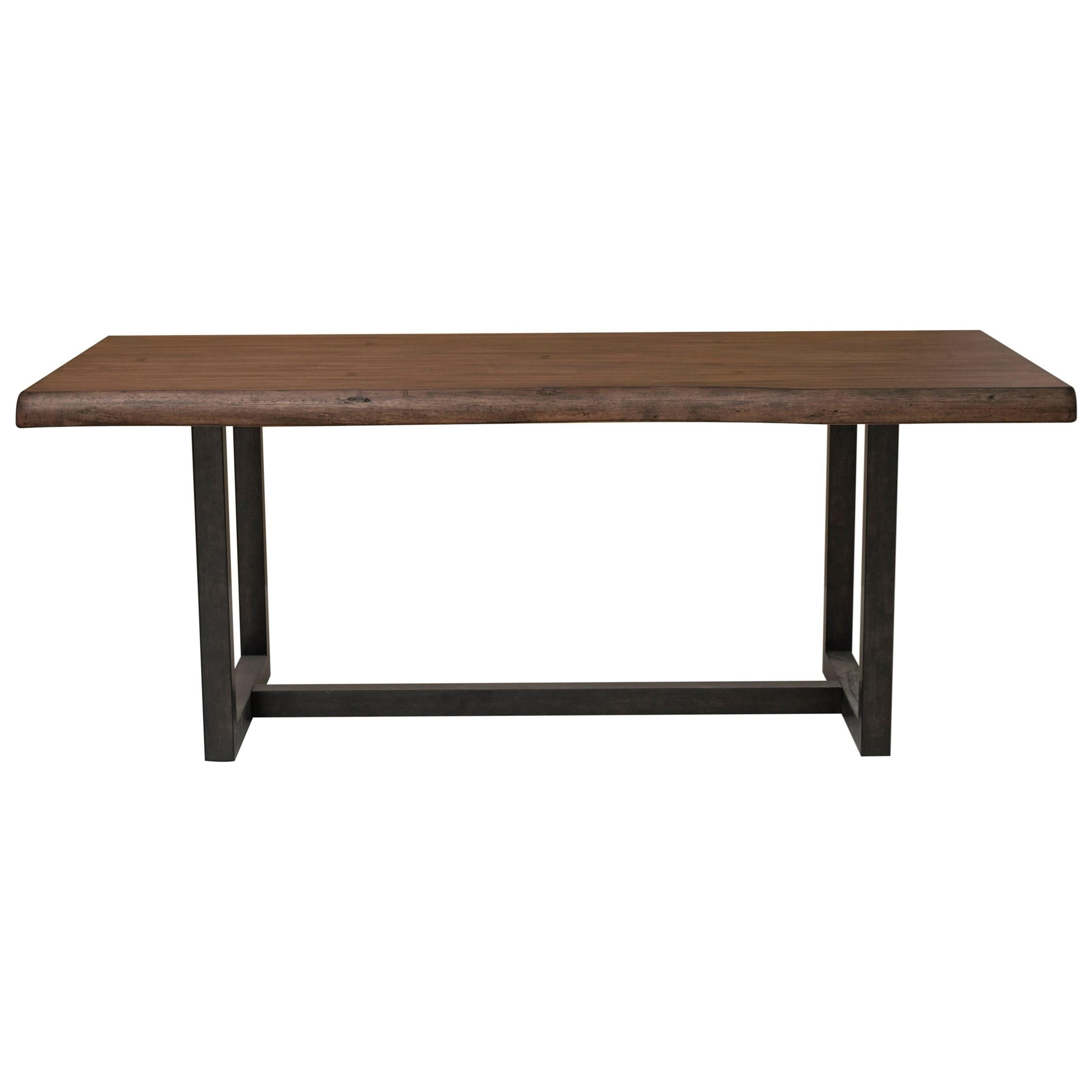 Urban Sofa Live Edge Lincoln Park Contemporary Trestle Dining Table With Live Edge By Samuel Lawrence At Rooms For Less