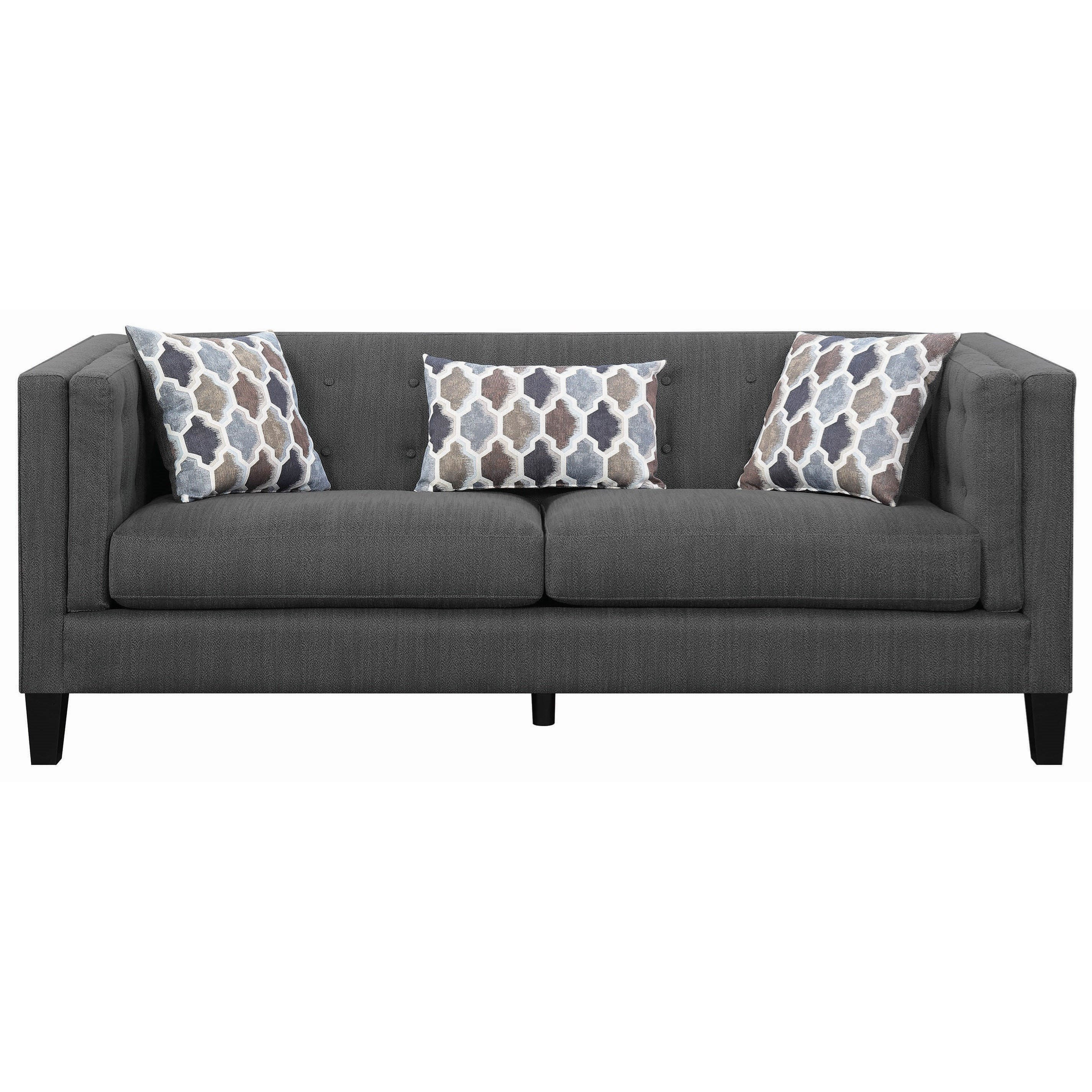 Modern Couch Sawyer Modern Sofa With Track Arms By Scott Living At Value City Furniture