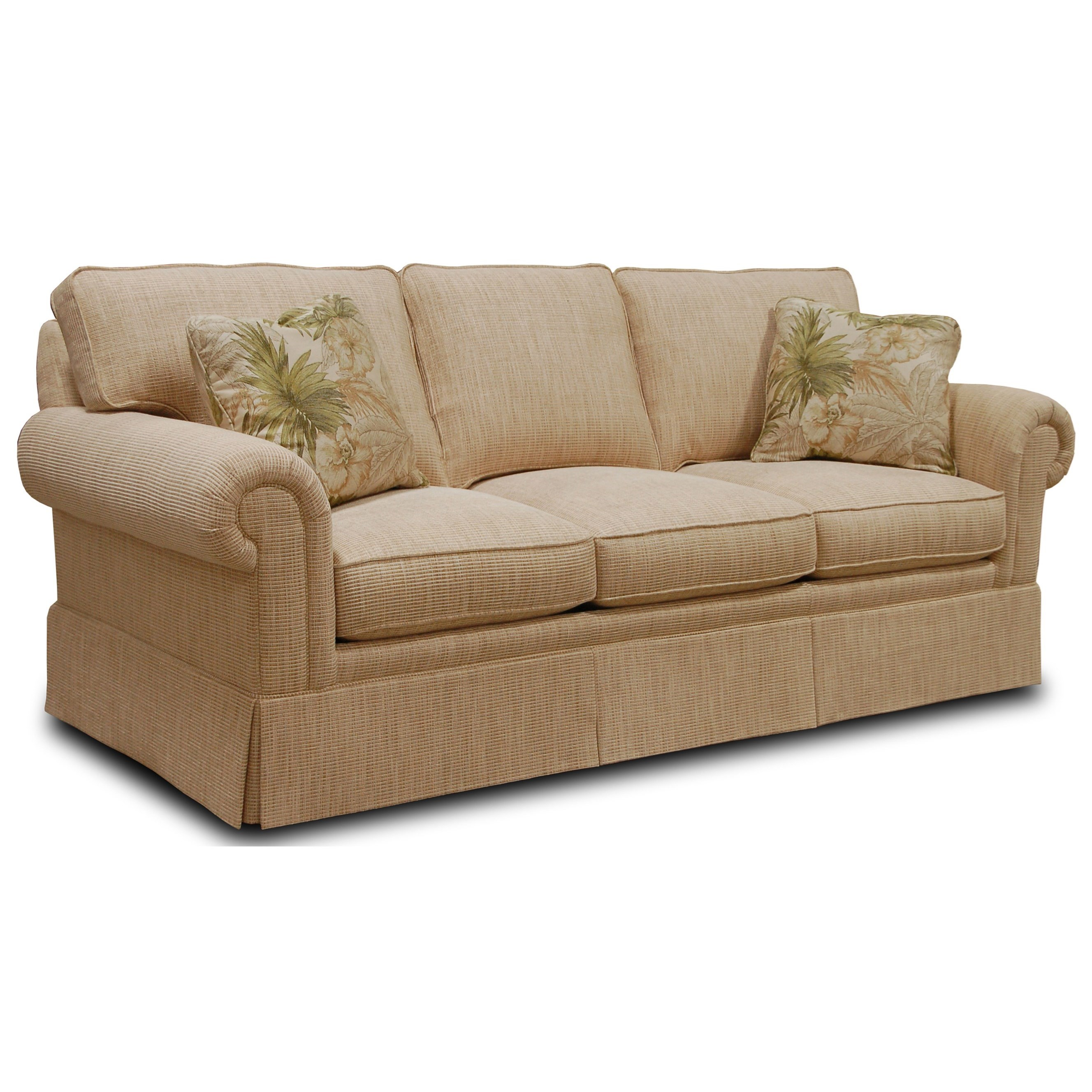 Sofa Sofa Traditional Sofa With Loose Cushion Back And Round Panel Arms By Sherrill At Baer S Furniture