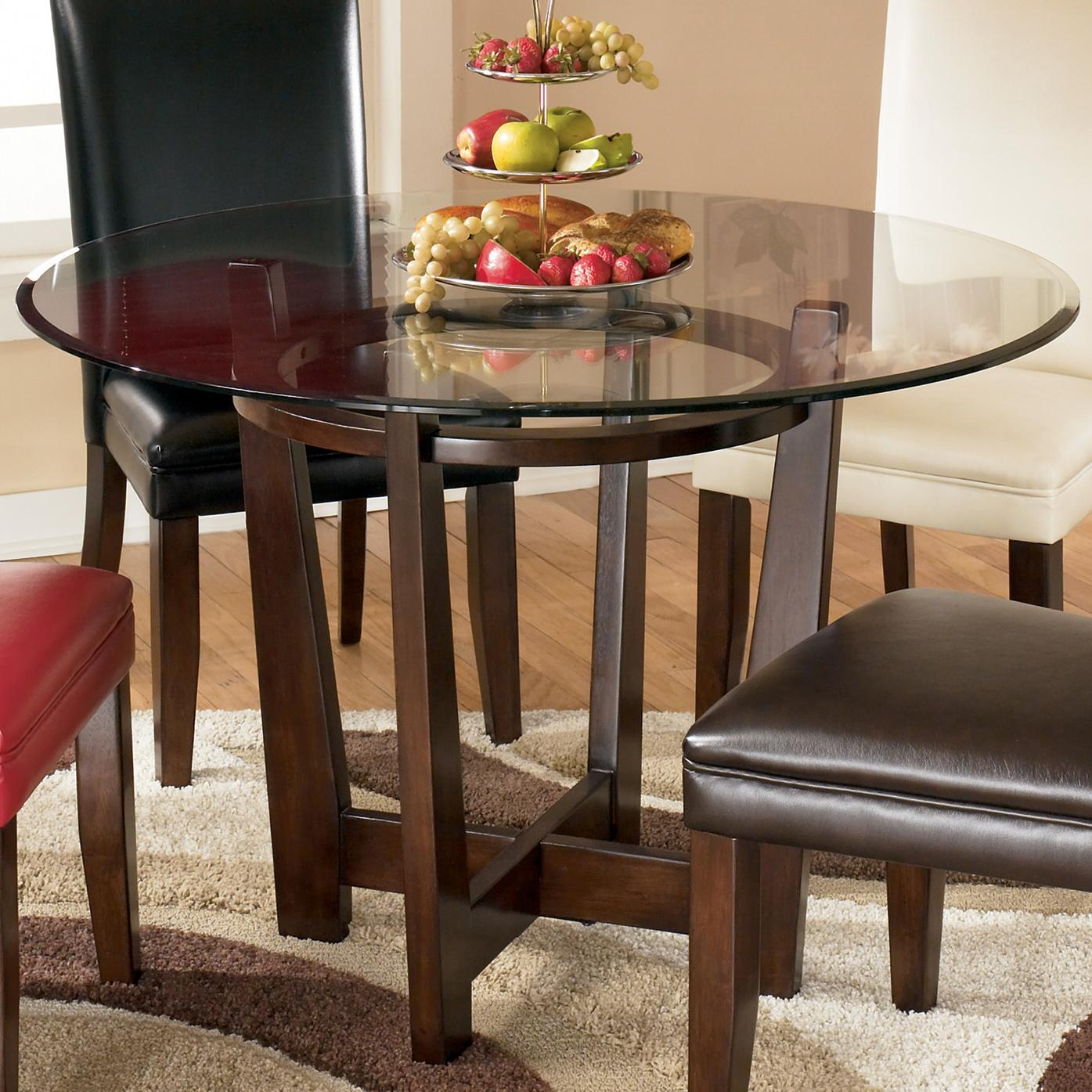 Round Glass Top Dining Table Charrell Round Glass Top Table By Signature Design By Ashley At Value City Furniture