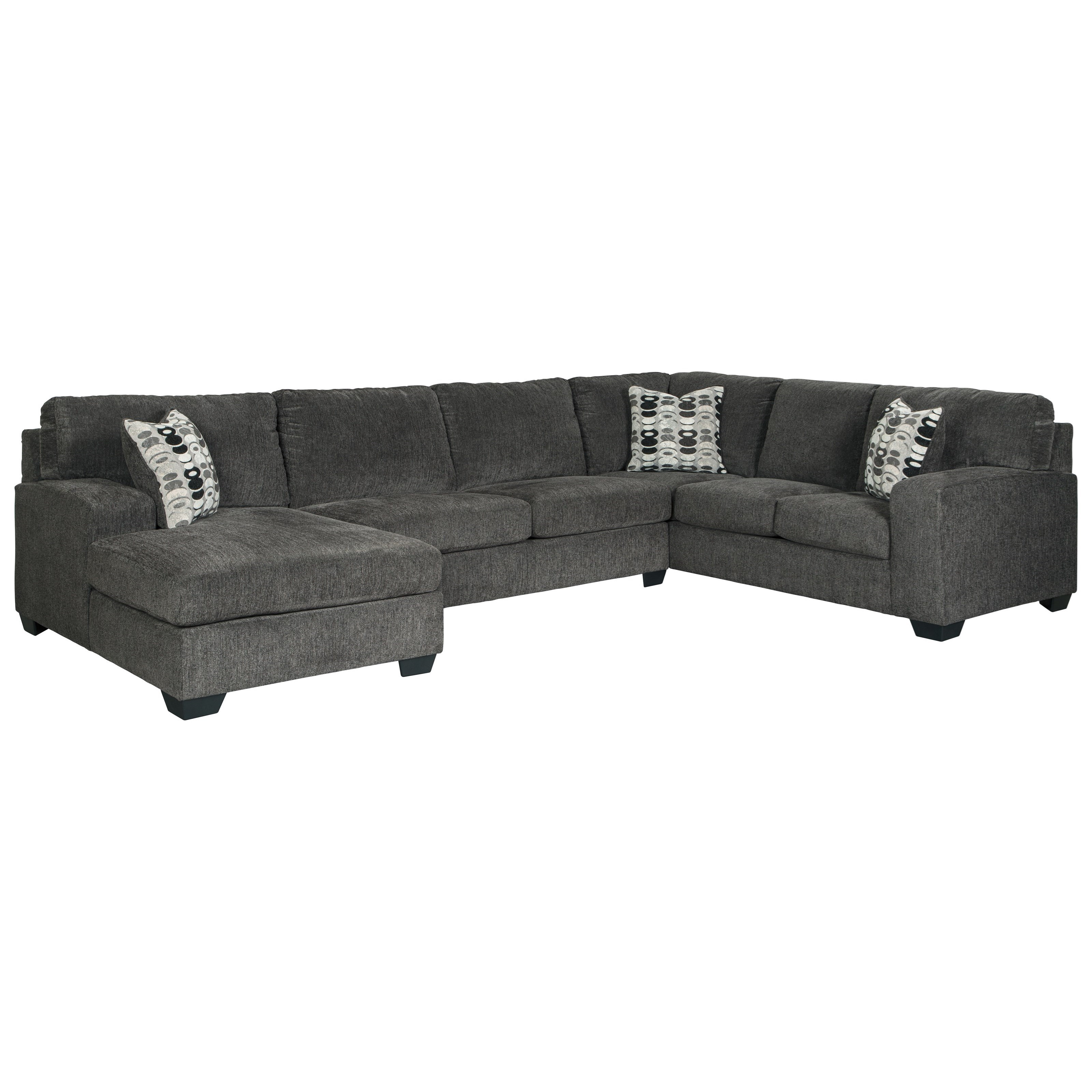 Furniture Chaise Ballinasloe Contemporary 3 Piece Sectional With Chaise By Signature Design By Ashley At Furniture And Appliancemart