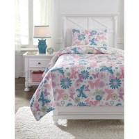 Ashley (Signature Design) Bedding Sets Twin Jobeth Quilt ...
