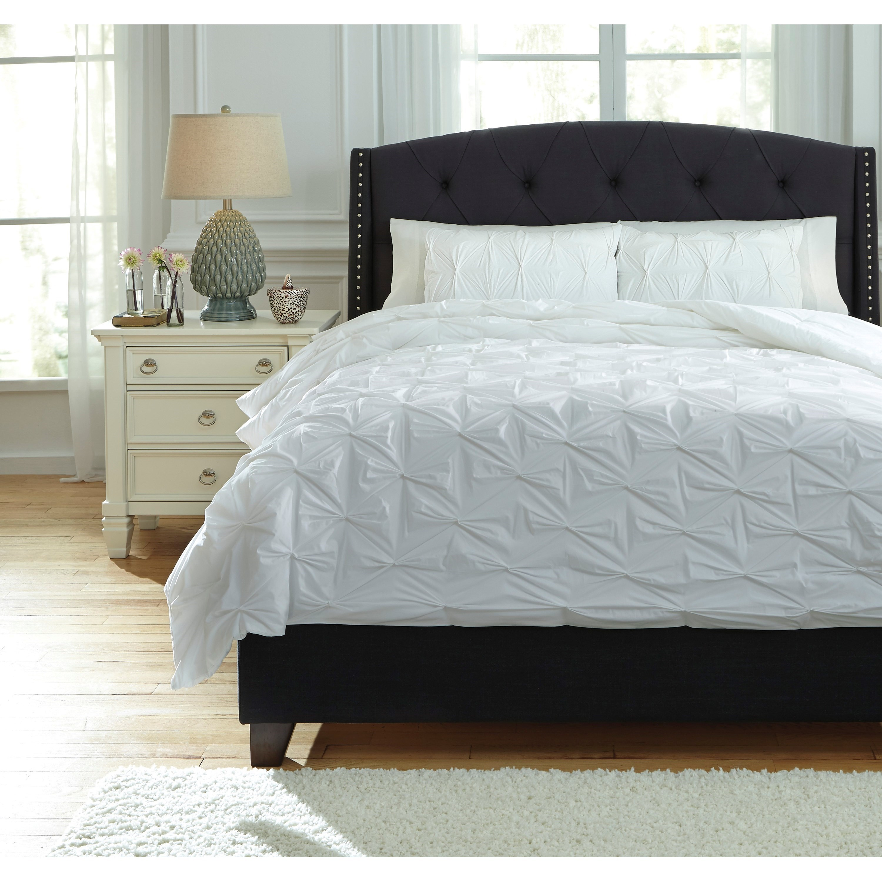 White Duvet Cover Queen Bedding Sets Queen Rimy White Comforter Set By Trendz At Ruby Gordon Home