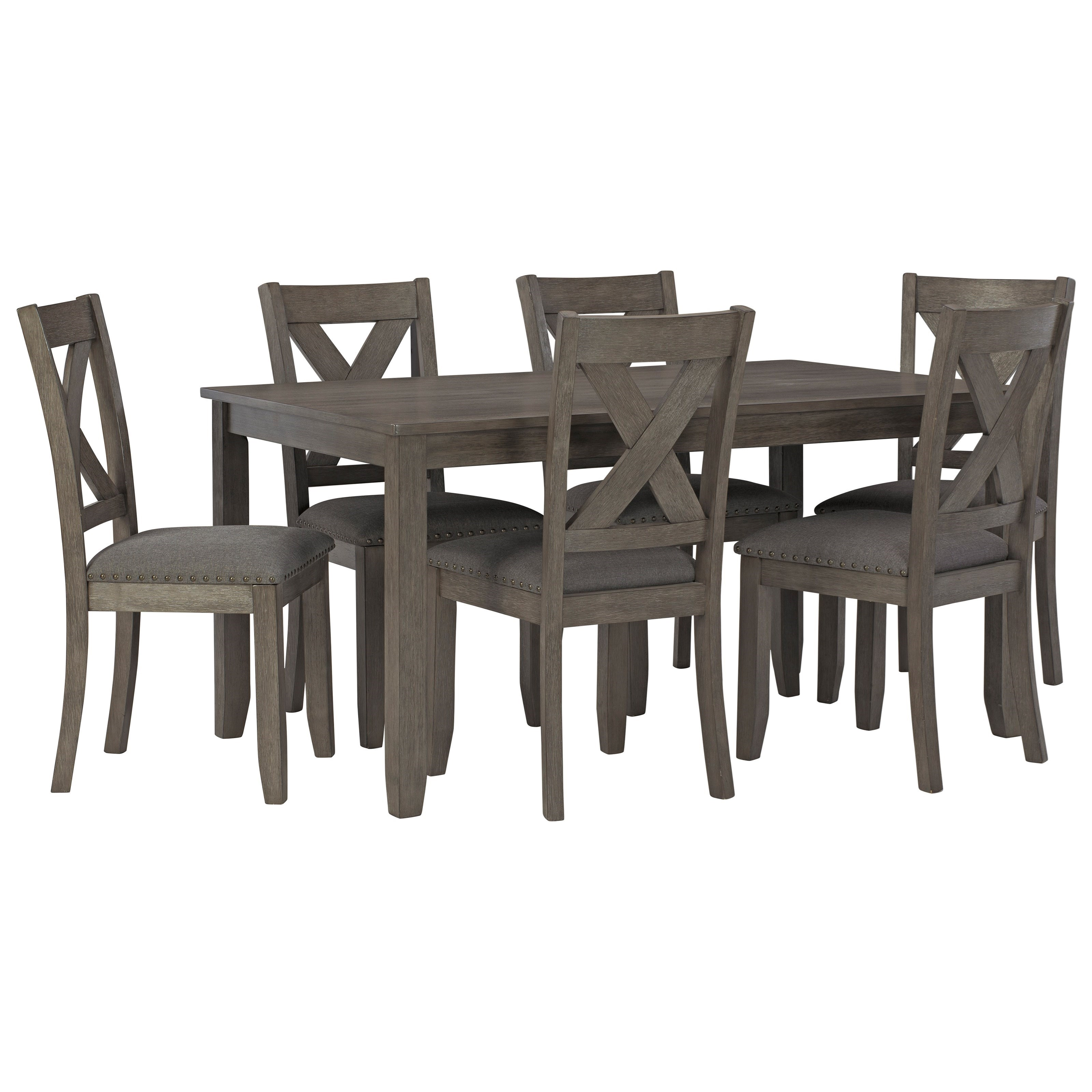 Signature Design By Ashley Caitbrook Ashl D388 425 7 Piece Rectangular Dining Room Table Set Household Furniture Dining 7 Or More Piece Sets