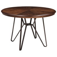 Signature Design by Ashley Centiar Round Dining Room Table ...