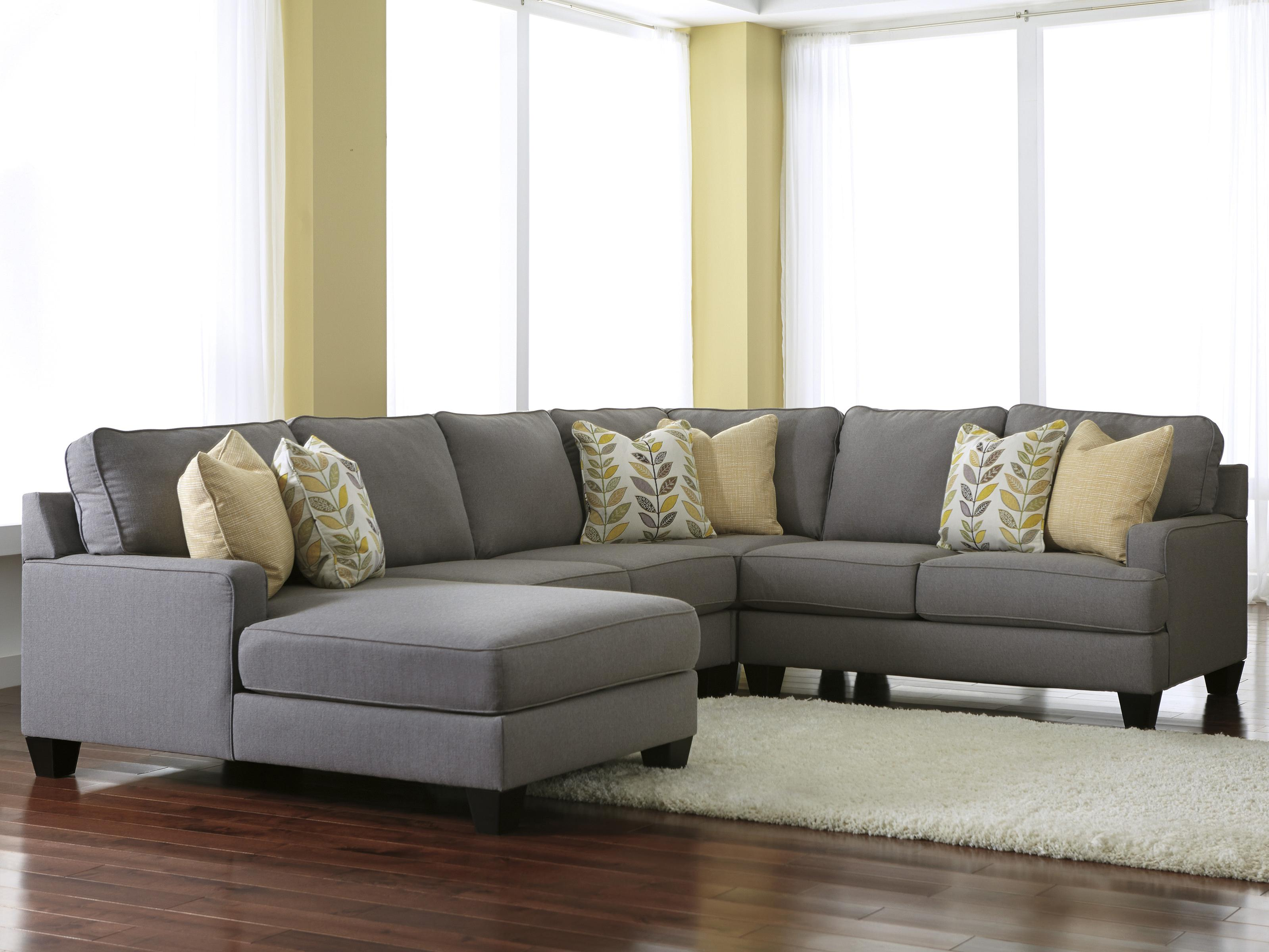 Sectional Corner Couch Chamberly Alloy Modern 4 Piece Sectional Sofa With Left Chaise Reversible Seat Cushions By Signature Design By Ashley At Household Furniture