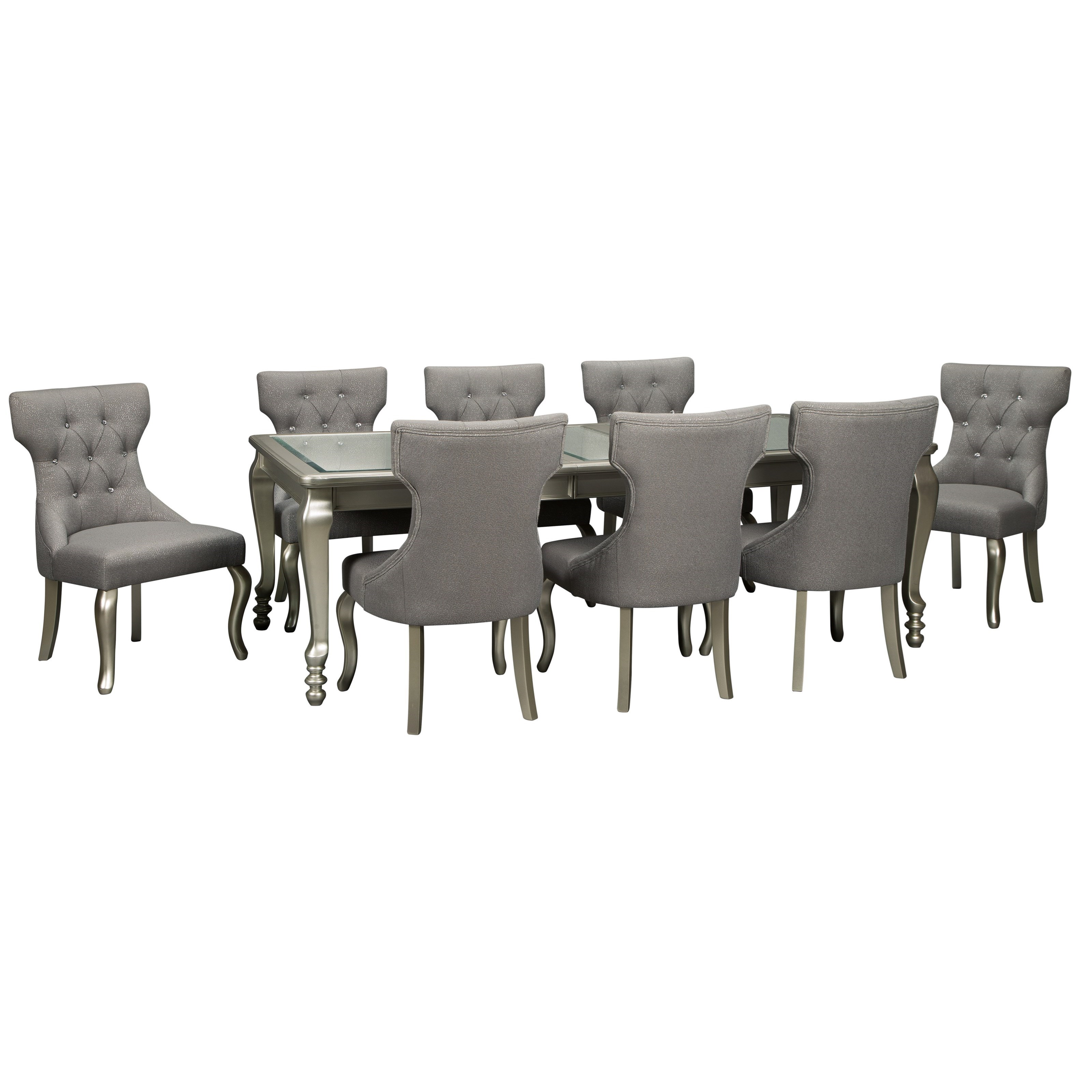 Signature Design By Ashley Coralayne 9 Piece Rectangular Dining Room Extension Table Set Value City Furniture Dining 7 Or More Piece Sets