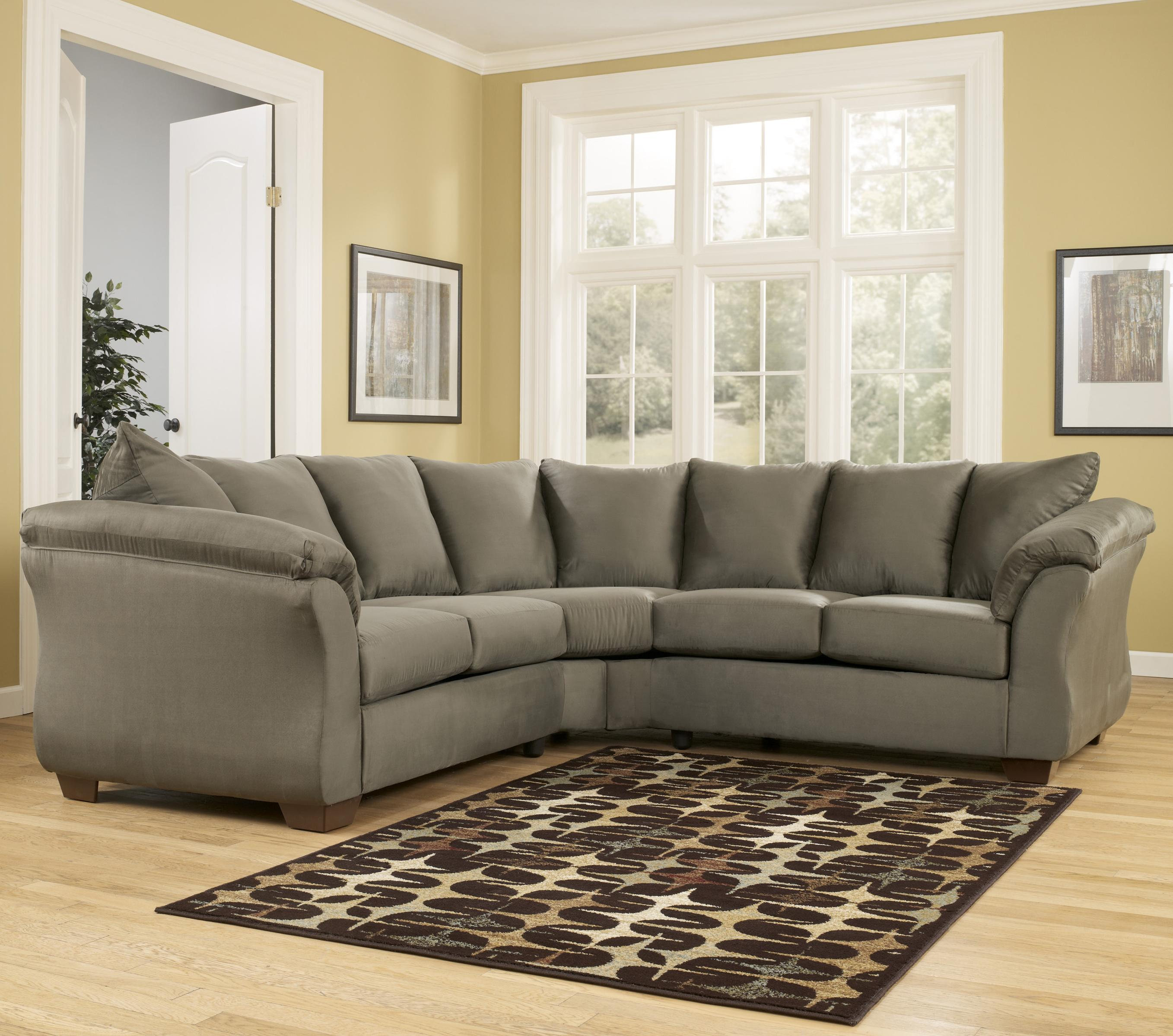 Ashley Signature Design Sofa Signature Design By Ashley Darcy - Sage Contemporary