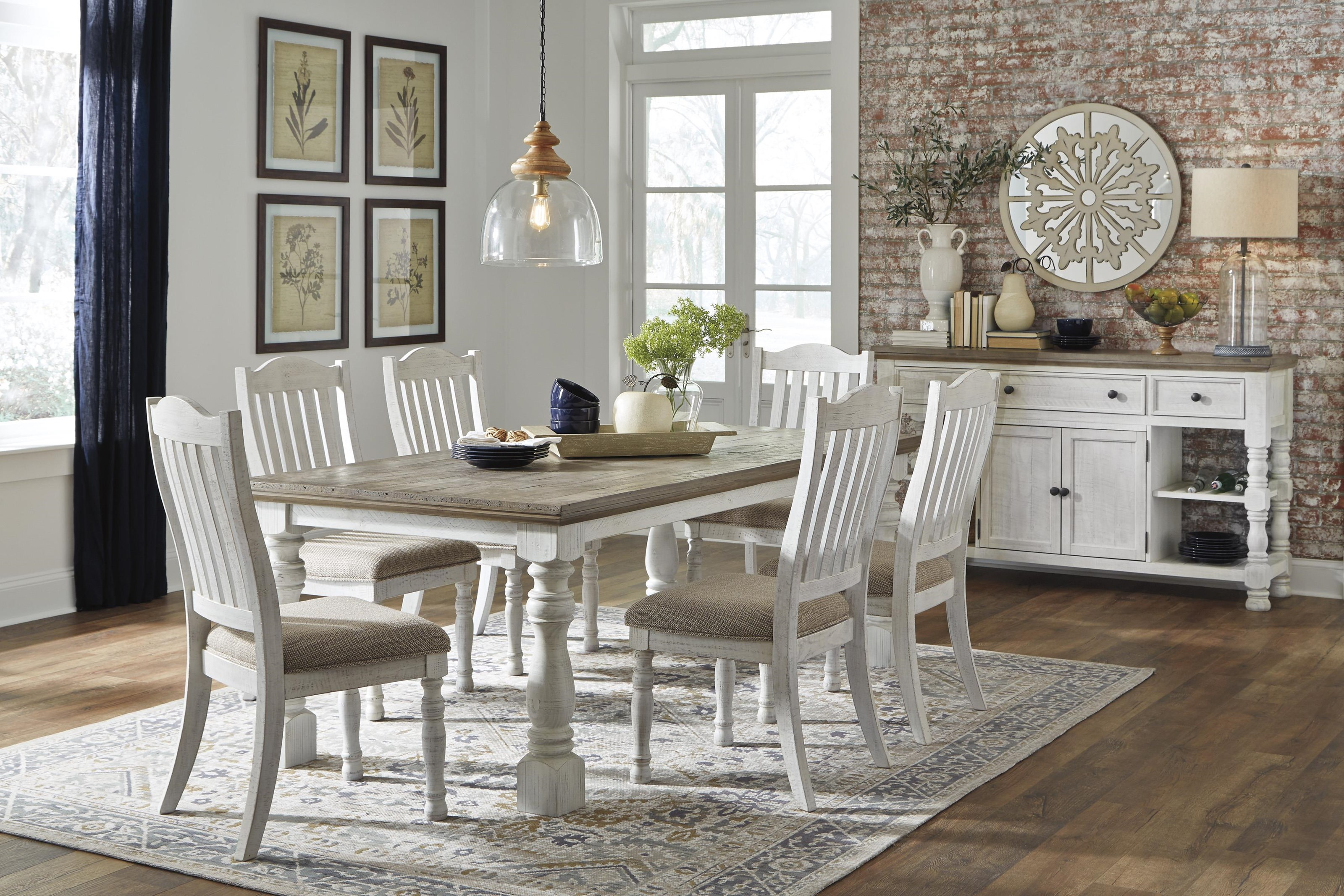 Ashley Havalance Dining Set Includes Table And 4 Chairs Morris Home Dining 5 Piece Sets