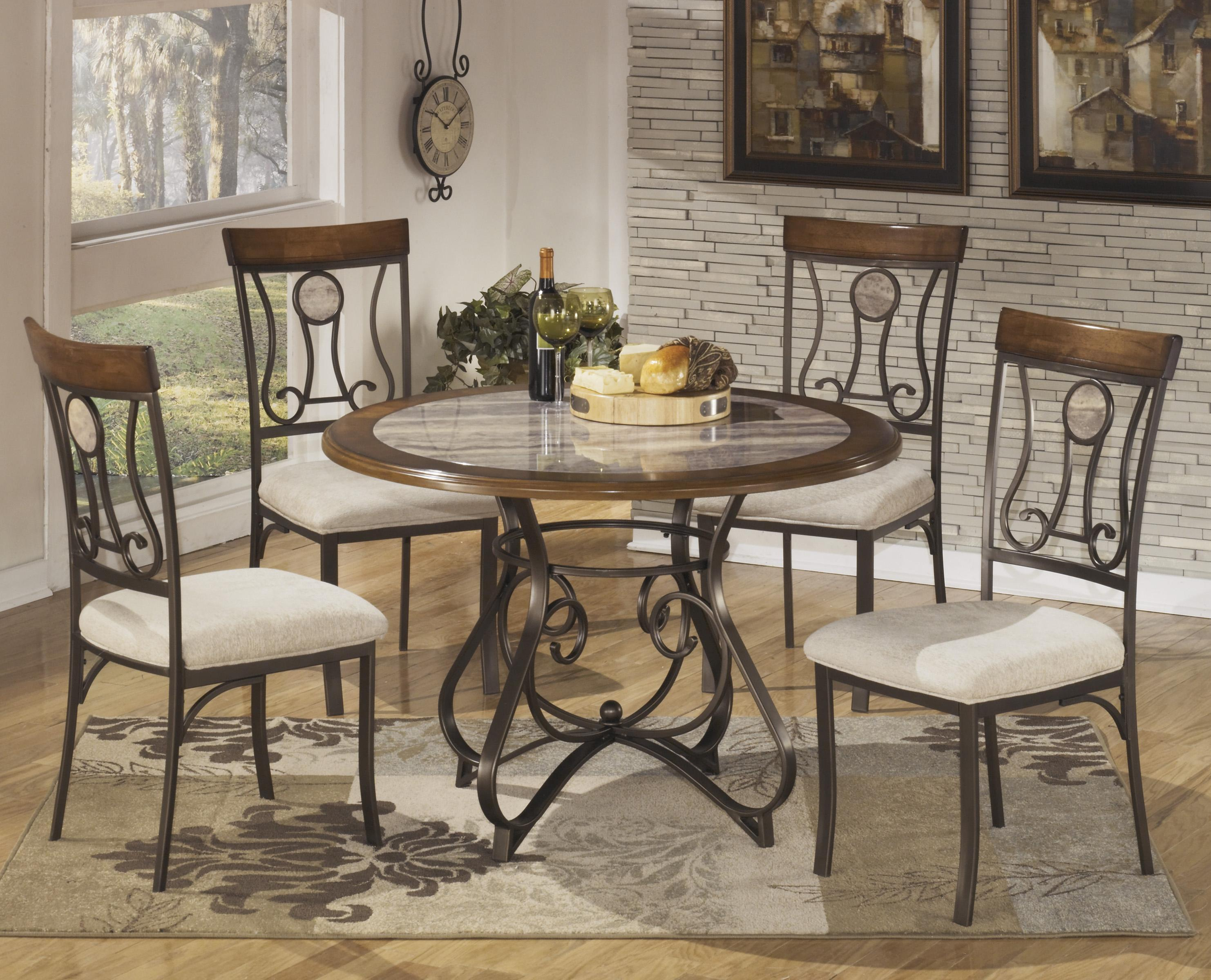 kitchen table chairs Signature Design by Ashley Hopstand 5 Piece Round Dining Table Set Item Number