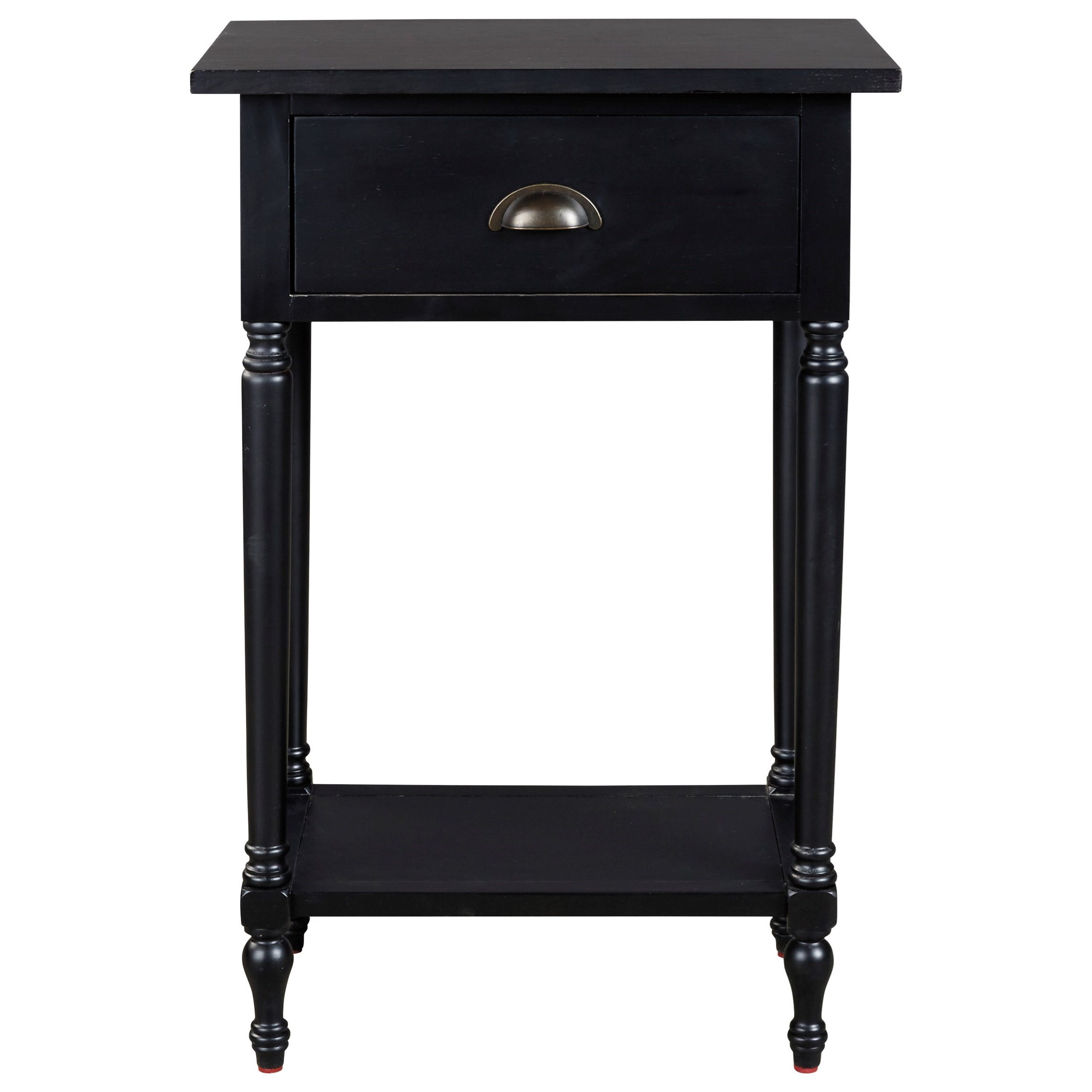 Black End Tables With Drawer Juinville Tall Accent Table With 1 Drawer 1 Shelf By Signature Design By Ashley At Wayside Furniture
