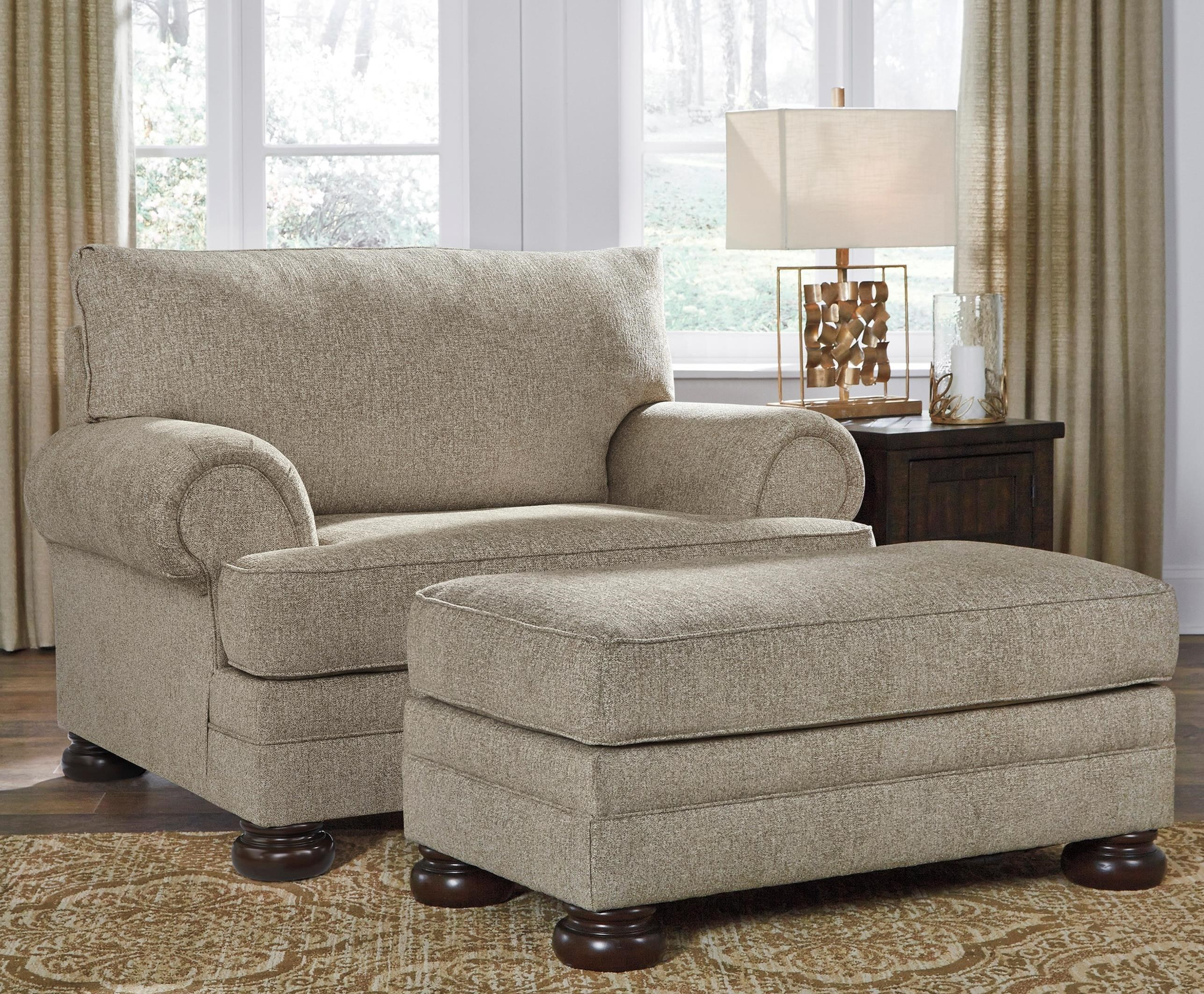 Signature Design By Ashley Kananwood Chair And A Half And Ottoman Standard Furniture Chair Ottoman Sets