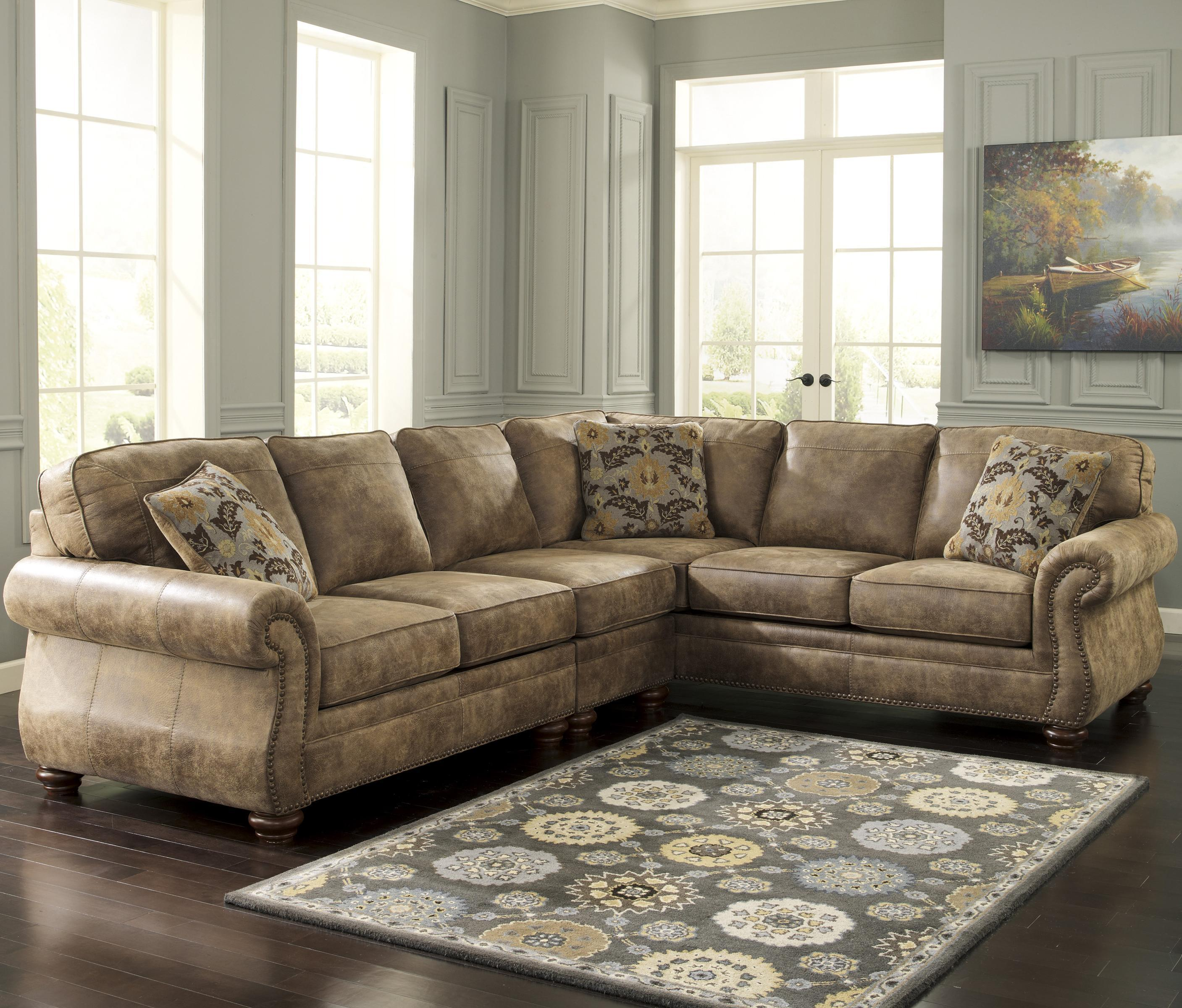 Sofa Mart Spokane Valley Wa Signature Design By Ashley Larkinhurst Earth Roll Arm Sectional