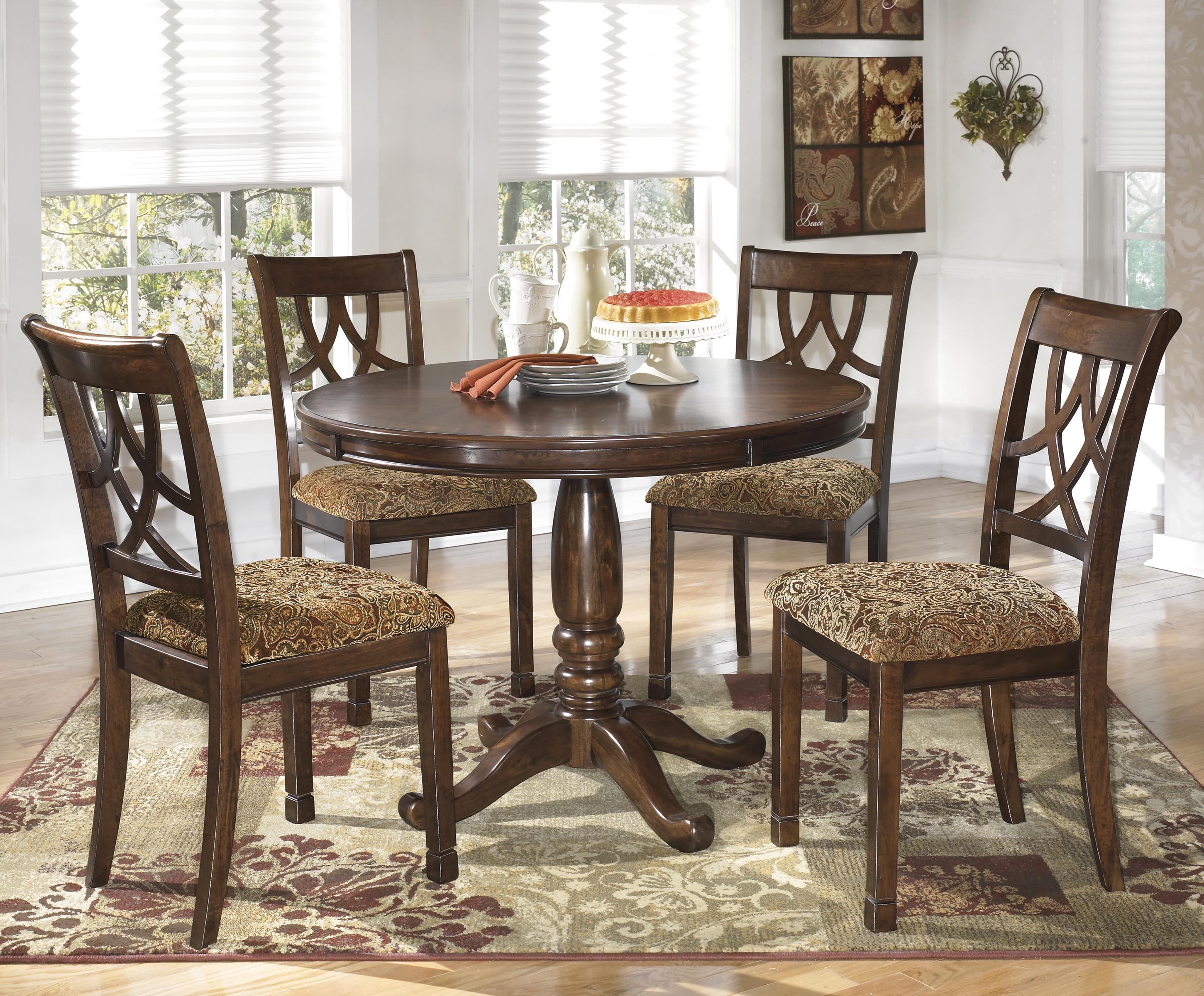 round kitchen table sets Signature Design by Ashley Leahlyn 5 Piece Round Dining Table Set Item Number