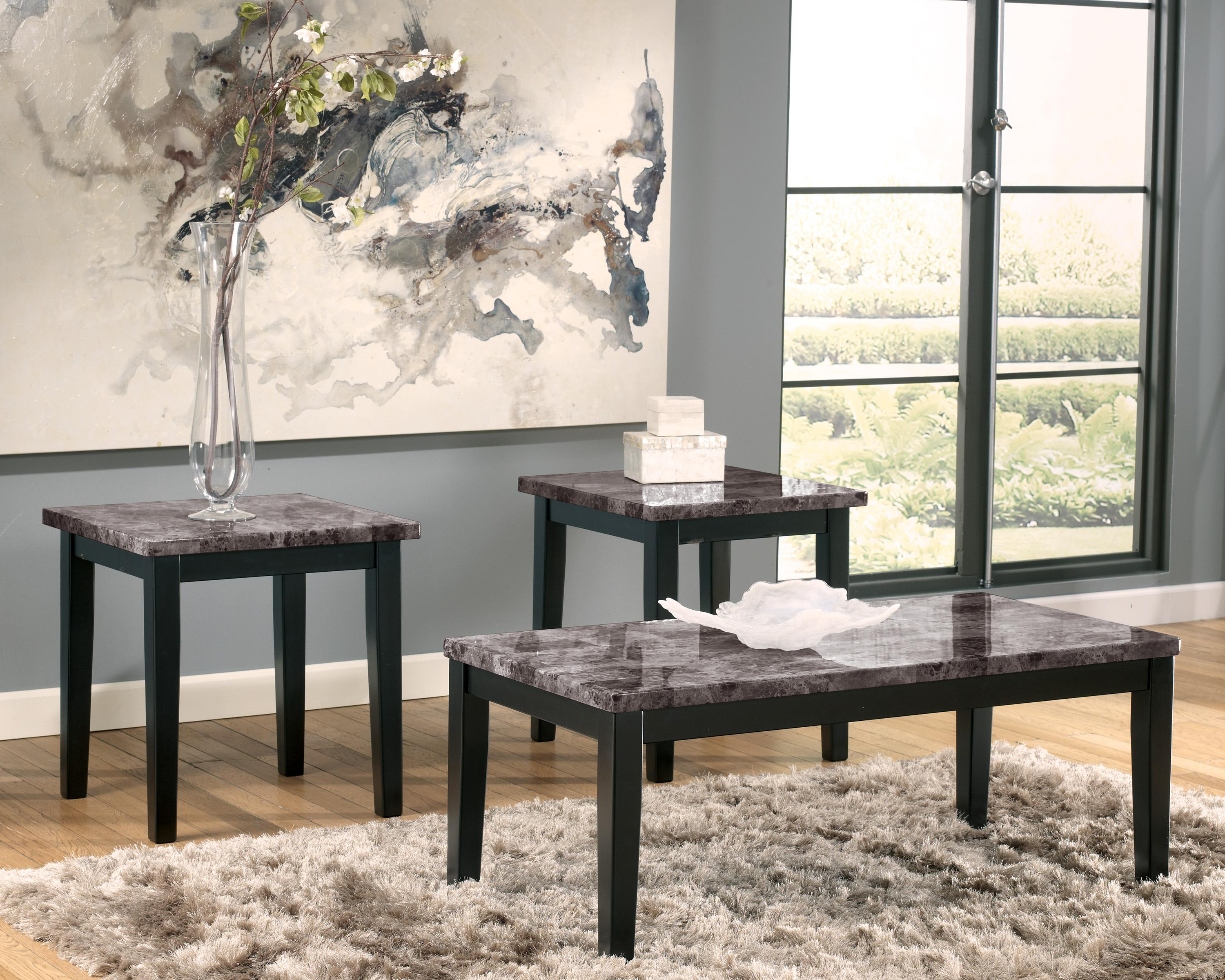 Signature Design By Ashley Maysville Faux Marble Top 3 Piece Occasional Table Set Darvin Furniture Occasional Groups