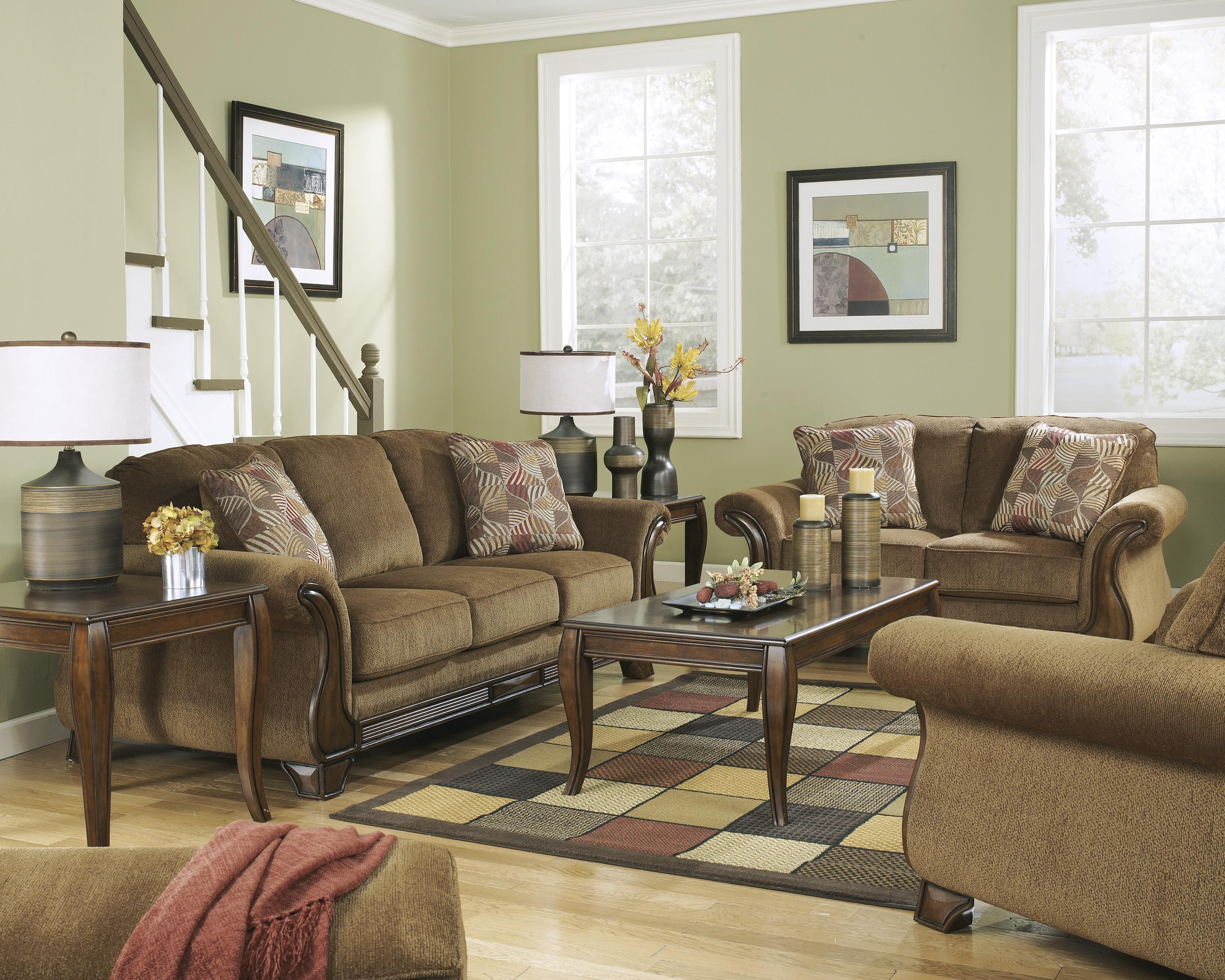 Living Room Sofas Sets Montgomery Mocha Stationary Living Room Group By Signature Design By Ashley At Household Furniture