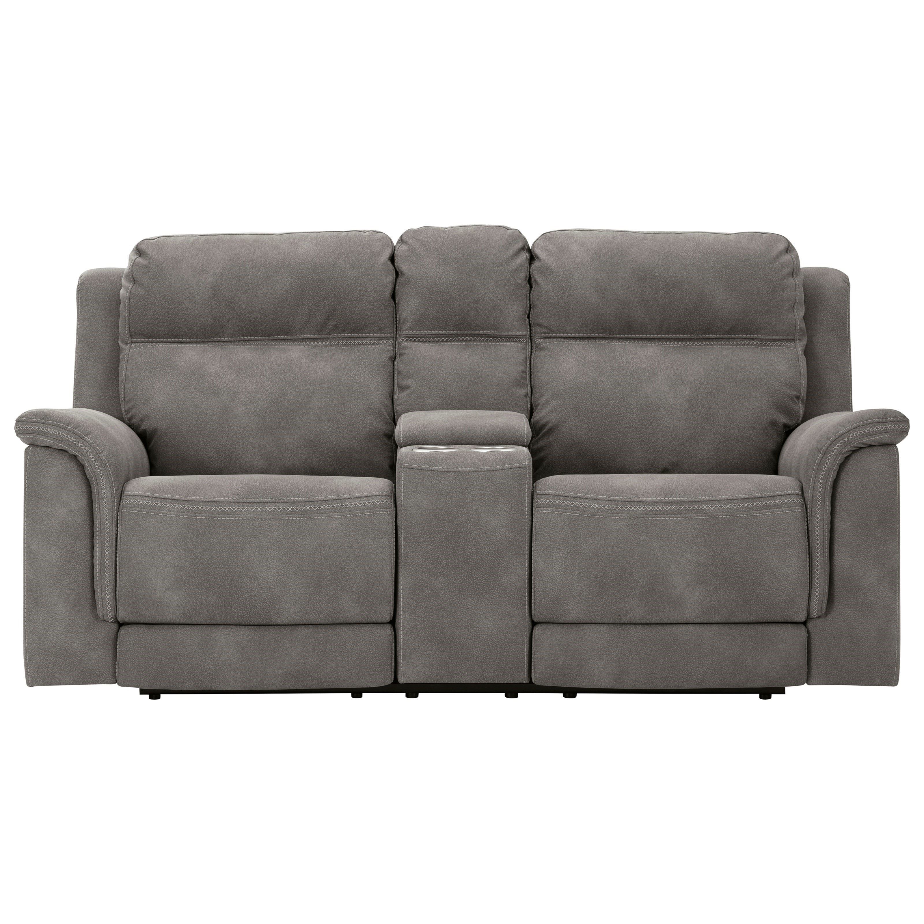 Signature Design By Ashley Next Gen Durapella 5930118 Zero Gravity Pwr Reclining Loveseat With Adj Headrests And Console Furniture And Appliancemart Reclining Loveseats