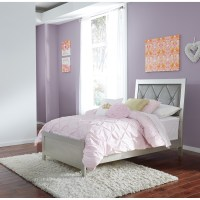 Signature Design by Ashley Olivet Glam Twin Panel Bed with ...